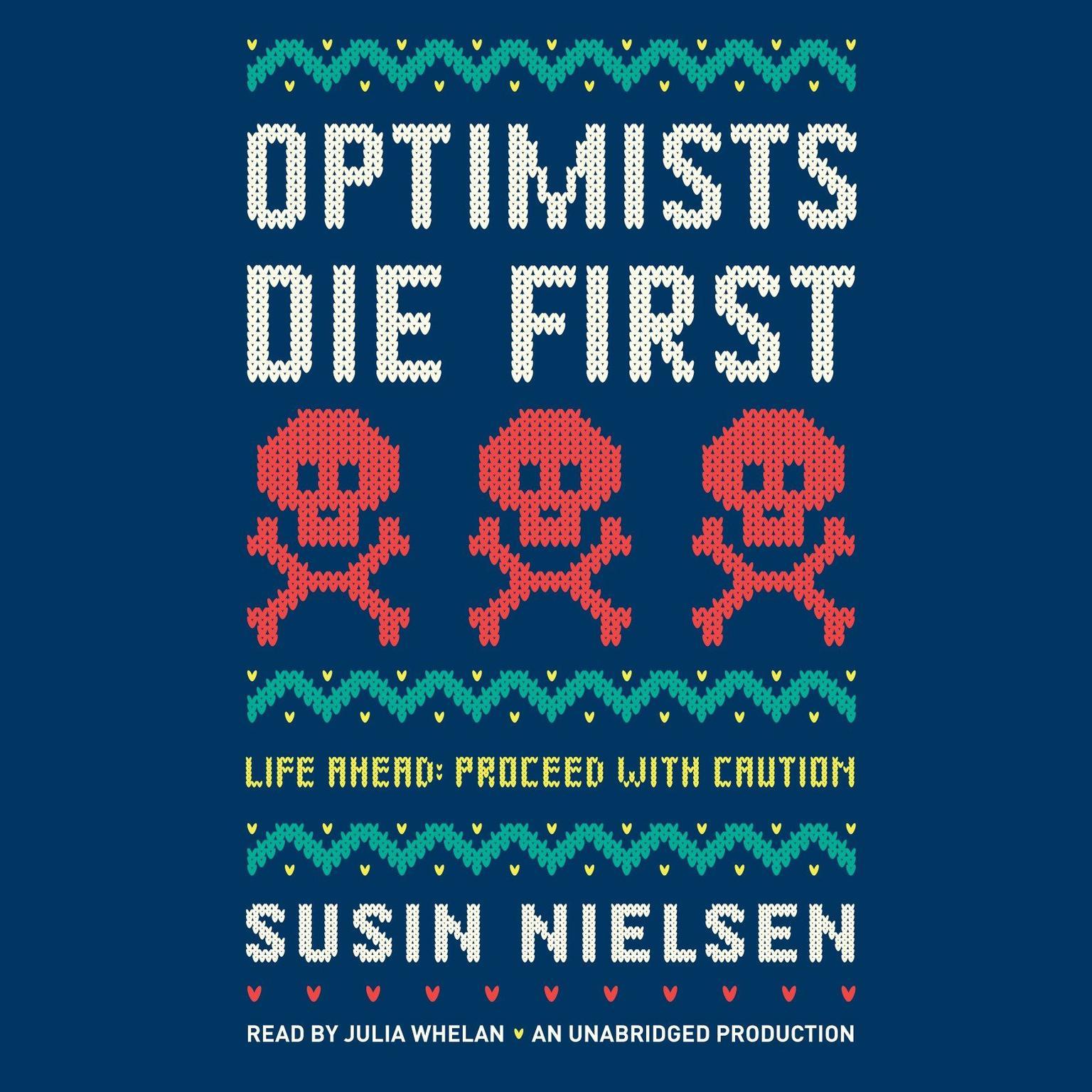 Printable Optimists Die First Audiobook Cover Art
