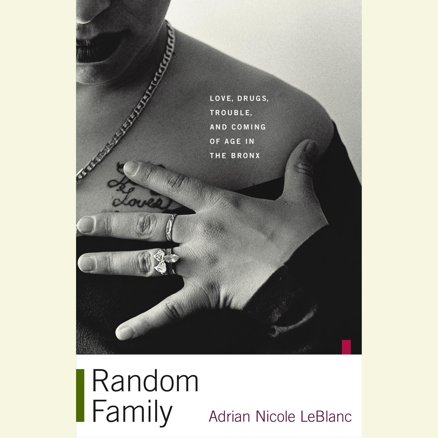 Printable Random Family: Love, Drugs, Trouble, and Coming of Age in the Bronx Audiobook Cover Art