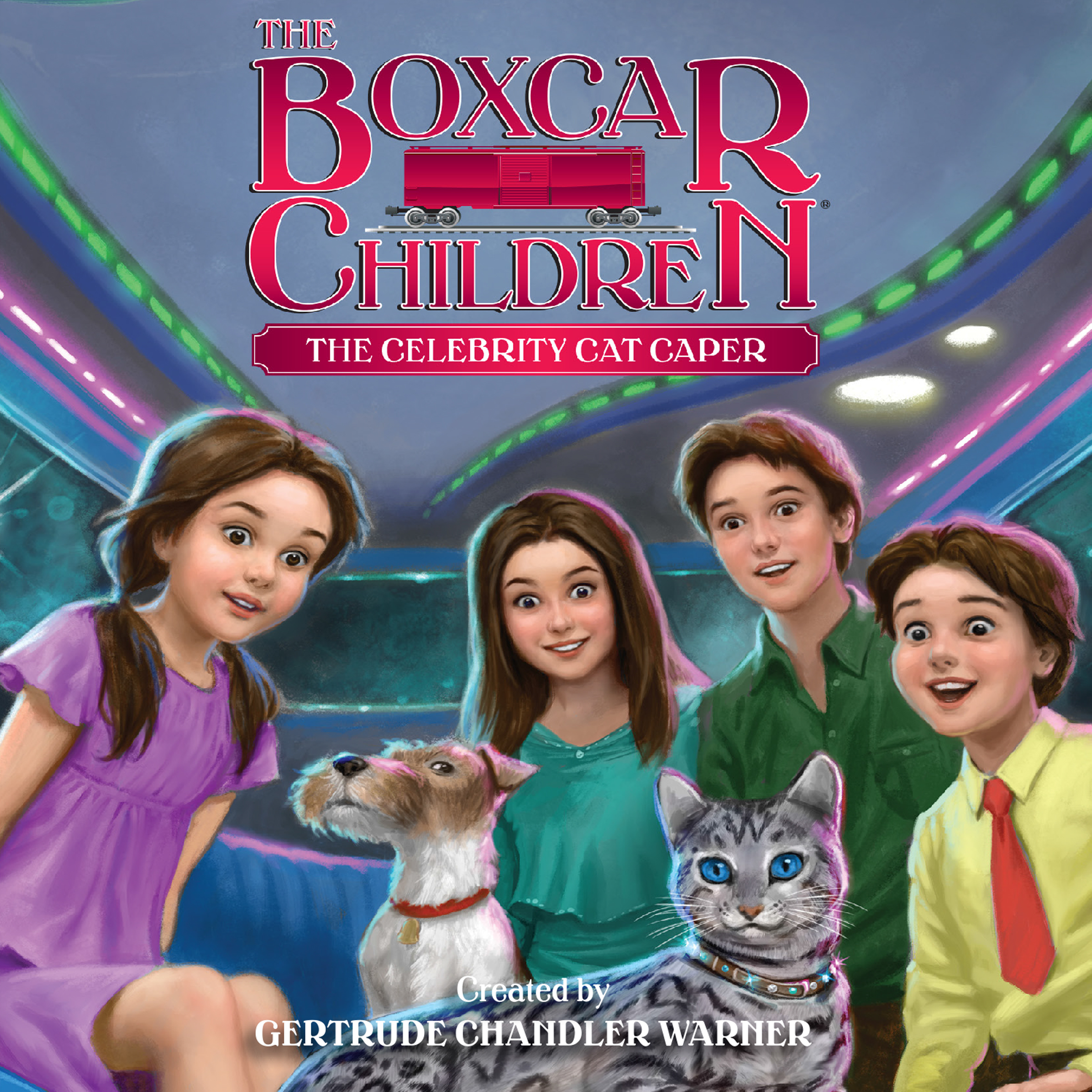 Printable The Celebrity Cat Caper Audiobook Cover Art