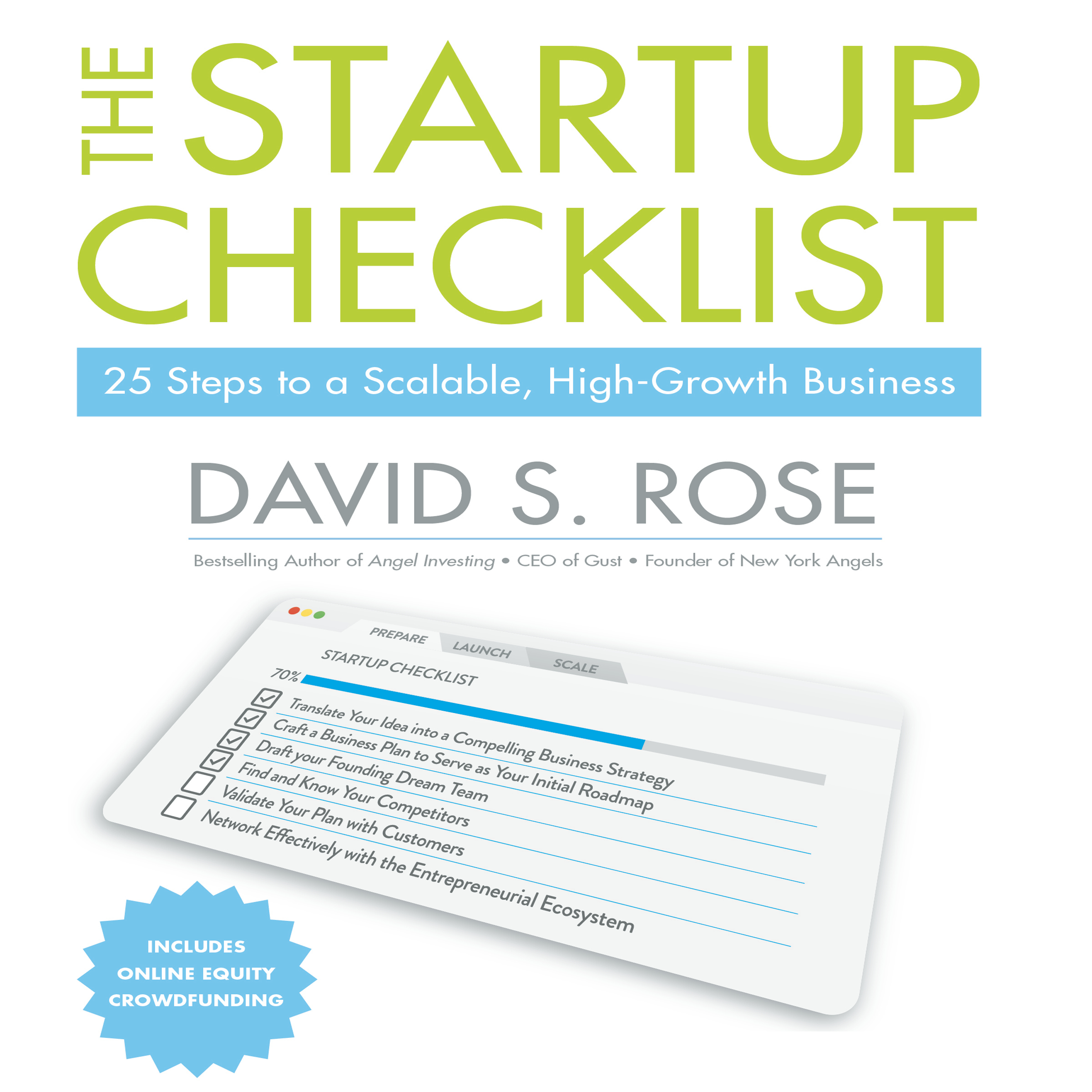 Printable The Startup Checklist: 25 Steps to a Scalable, High-Growth Business Audiobook Cover Art