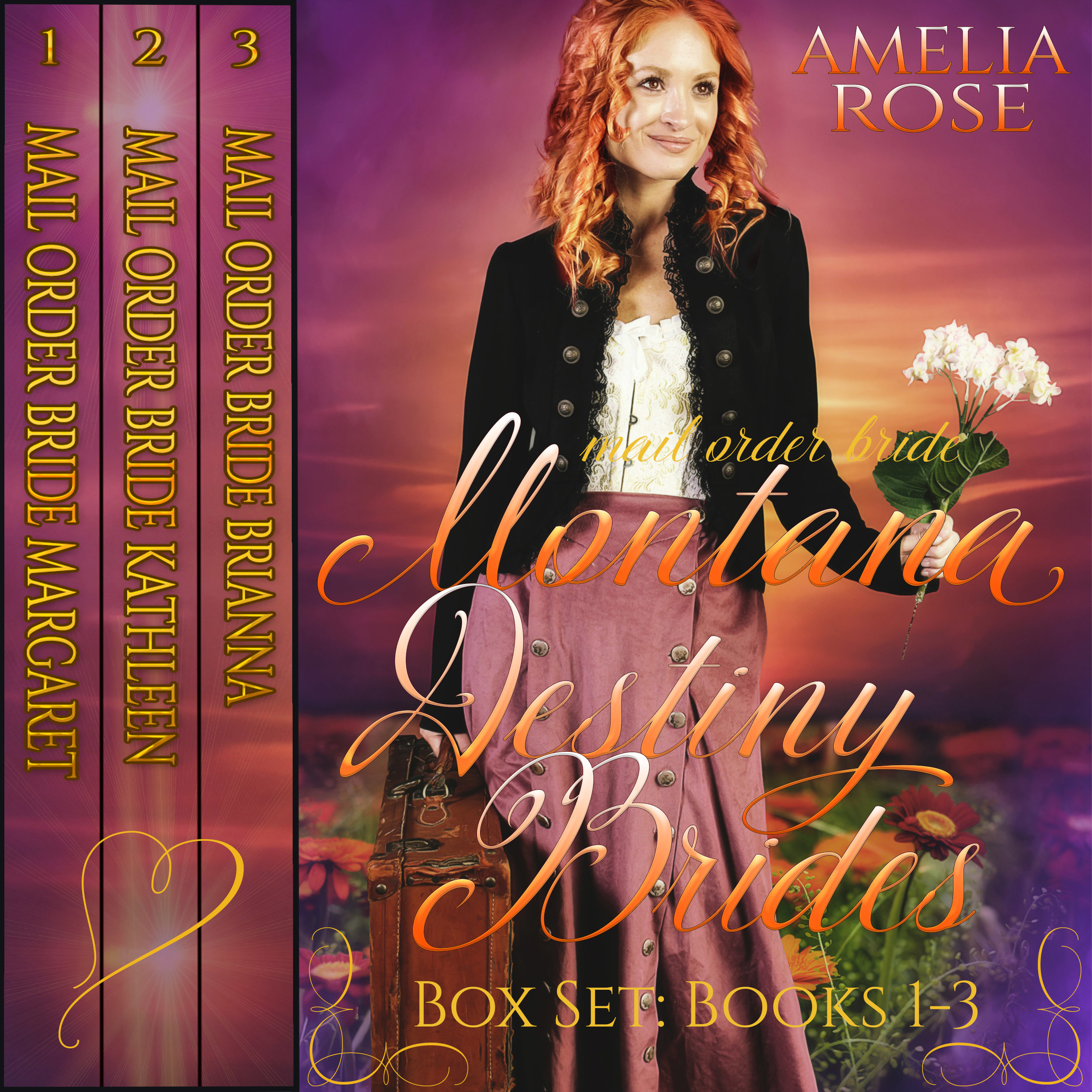 Printable Mail Order Bride - Montana Destiny Brides Box Set - Books 1-3 Audiobook Cover Art