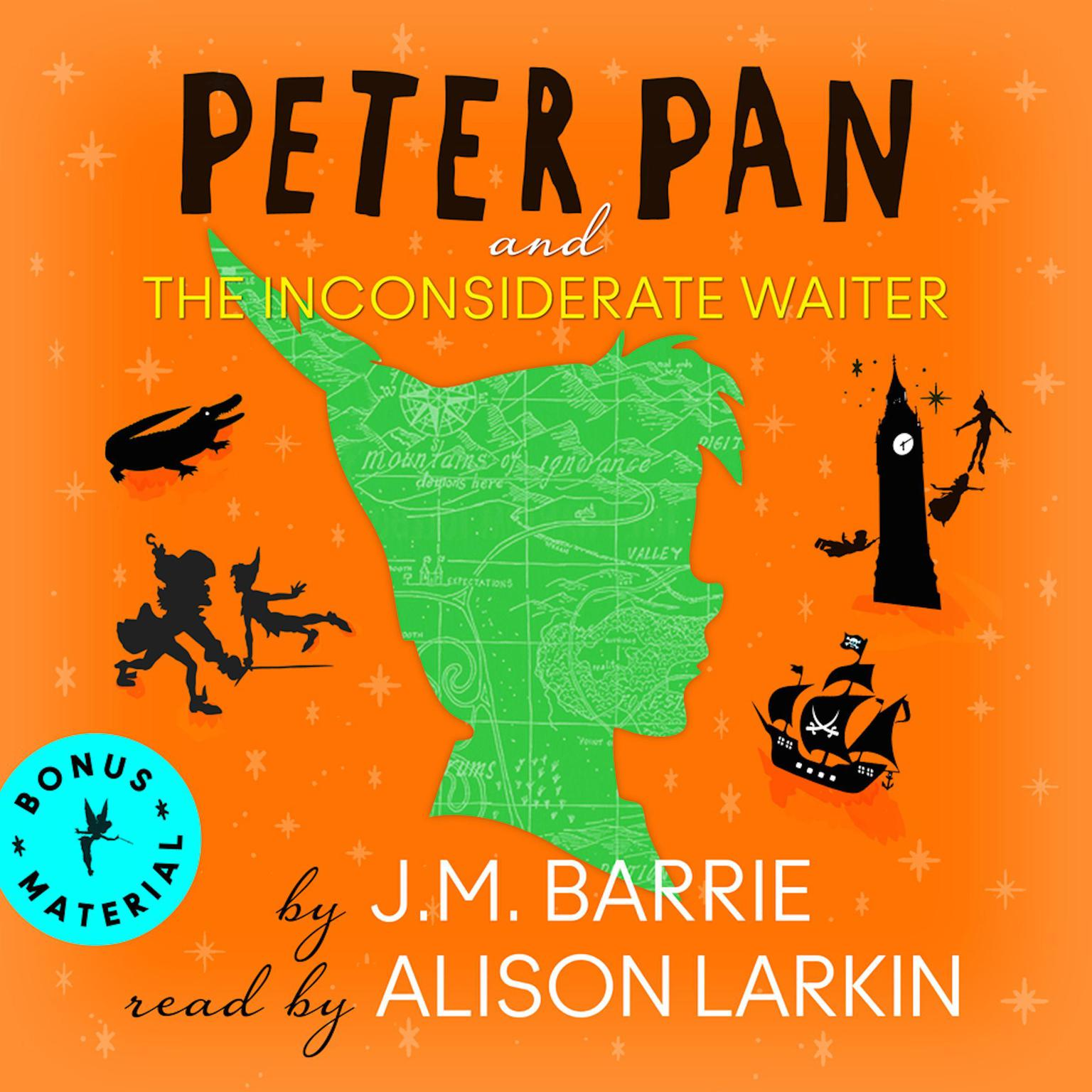 Printable Peter Pan and The   Inconsiderate Waiter Audiobook Cover Art