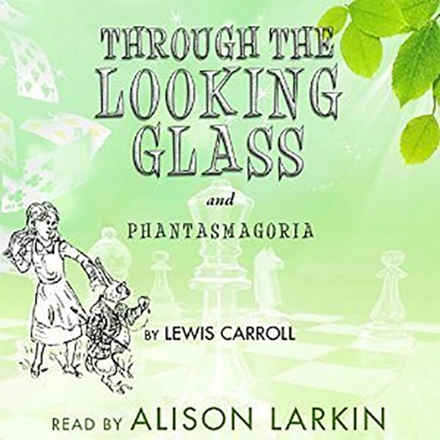 "Printable Through the Looking   Glass and ""Phantasmagoria"" Audiobook Cover Art"
