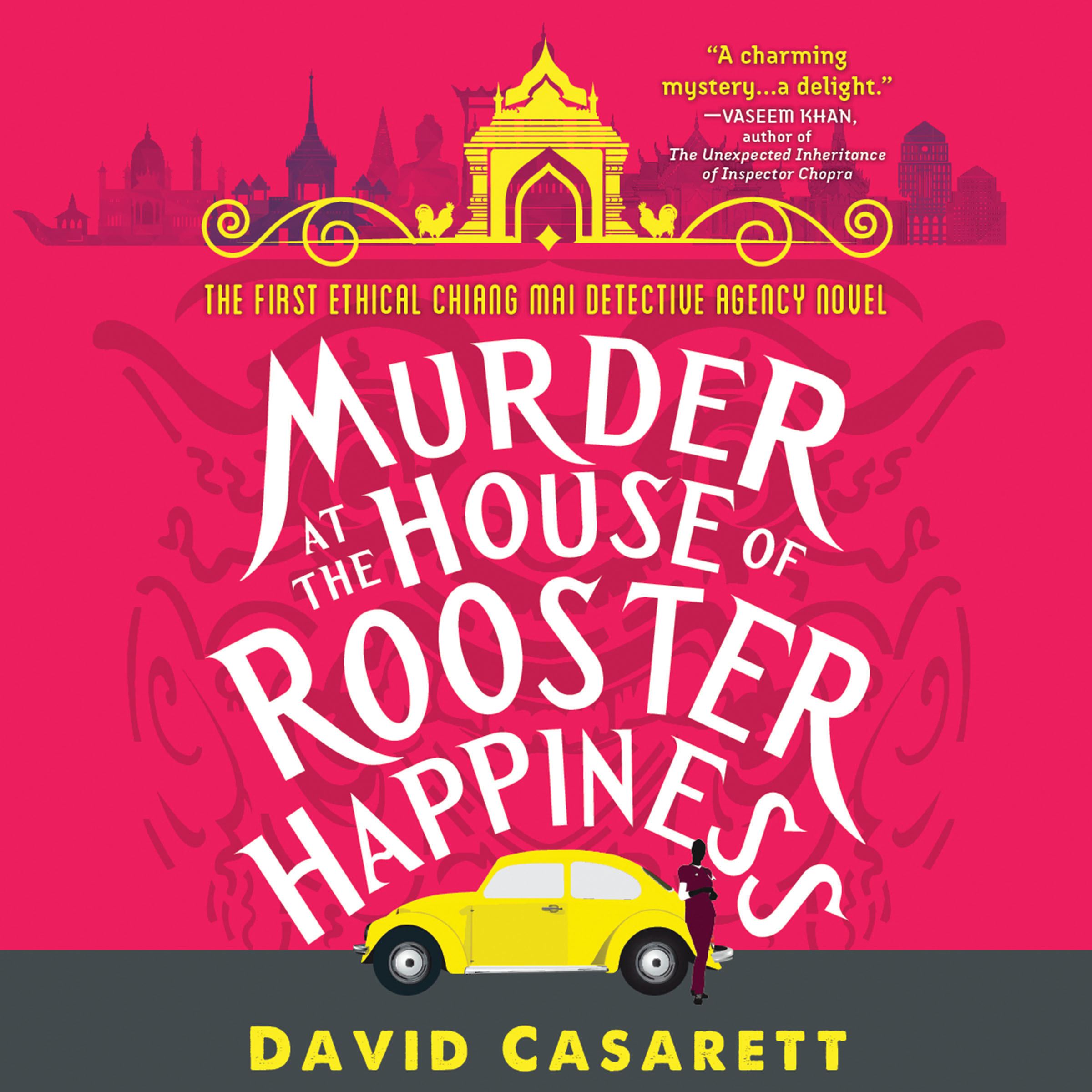 Printable Murder at the House of Rooster Happiness Audiobook Cover Art