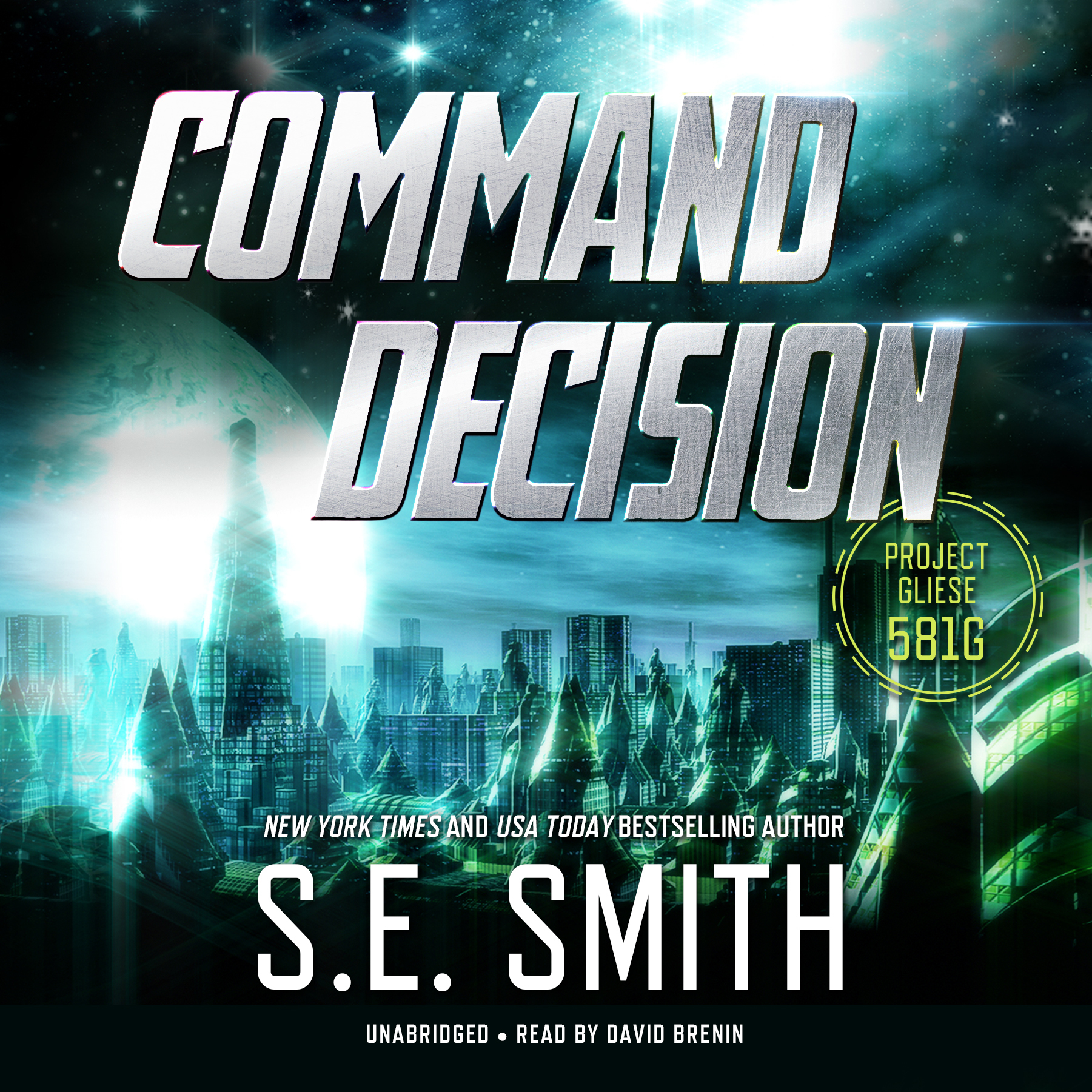 Printable Command Decision: Project Gliese 581g Audiobook Cover Art