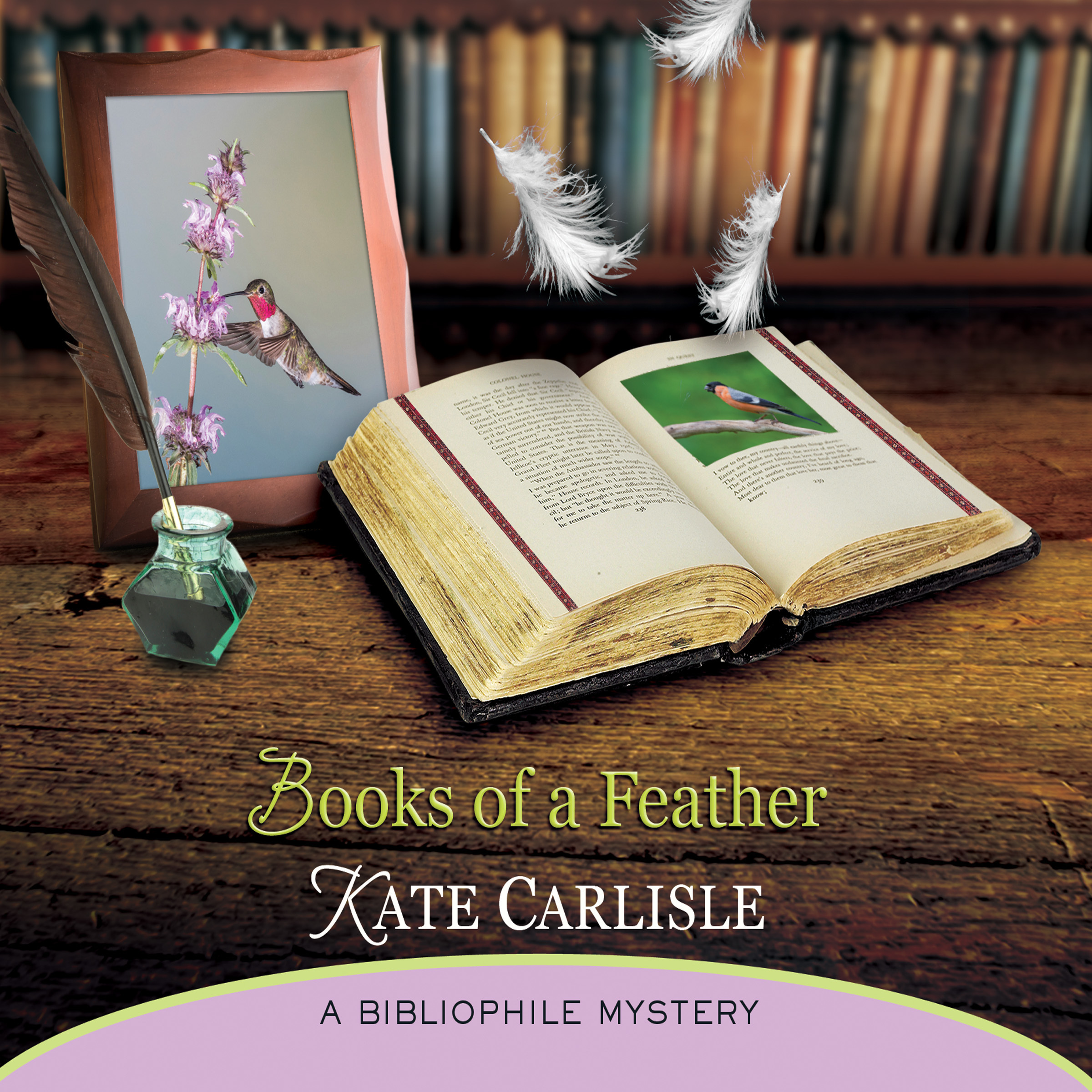 Printable Books of a Feather: A Bibliophile Mystery Audiobook Cover Art