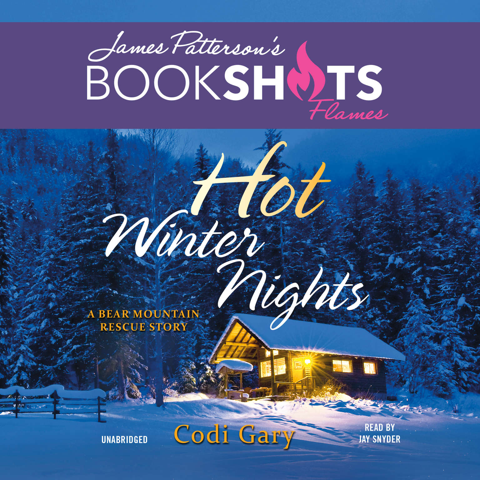 Printable Hot Winter Nights: A Bear Mountain Rescue Story Audiobook Cover Art