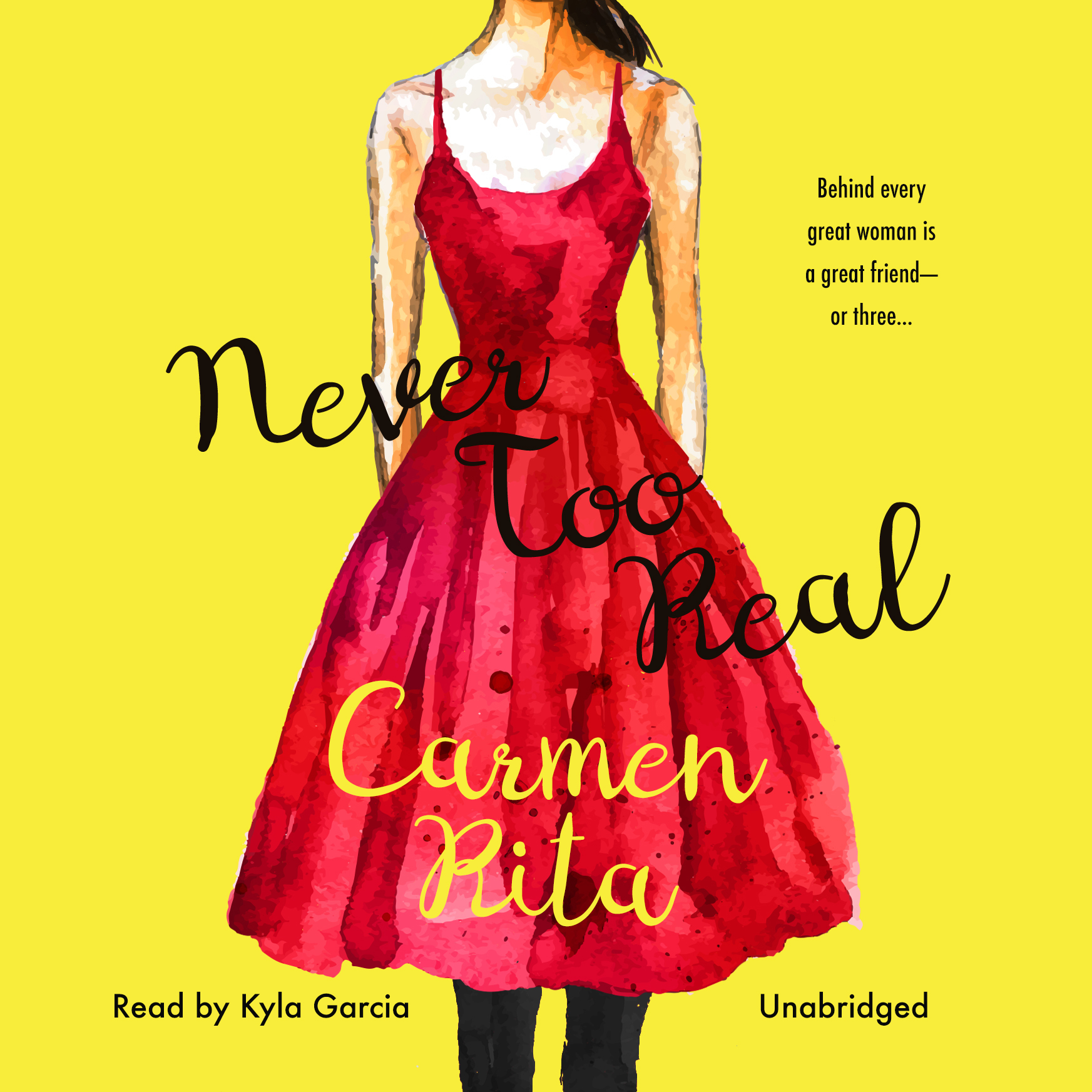 Printable Never Too Real Audiobook Cover Art