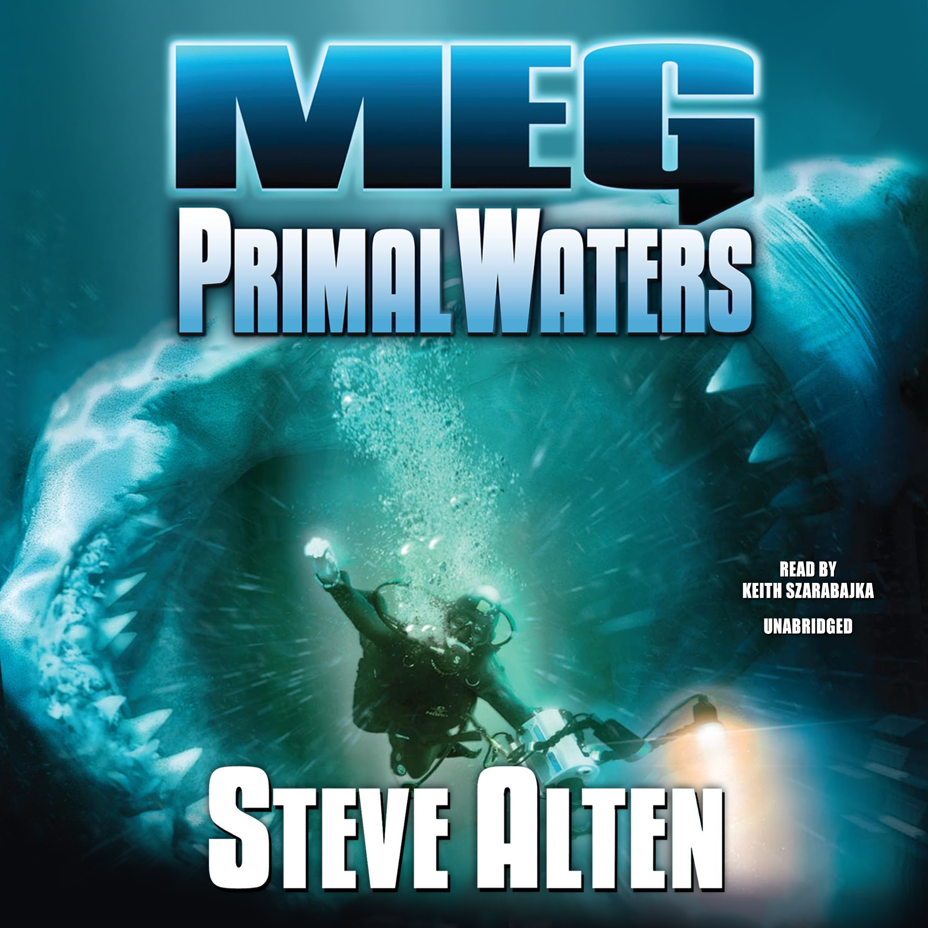 Printable Meg: Primal Waters Audiobook Cover Art