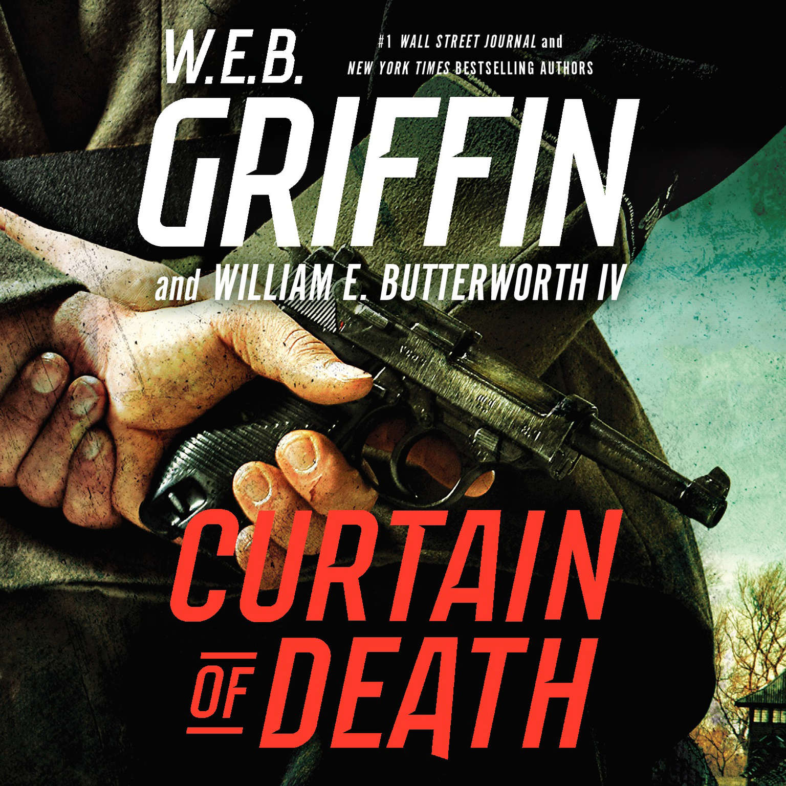Printable Curtain of Death Audiobook Cover Art