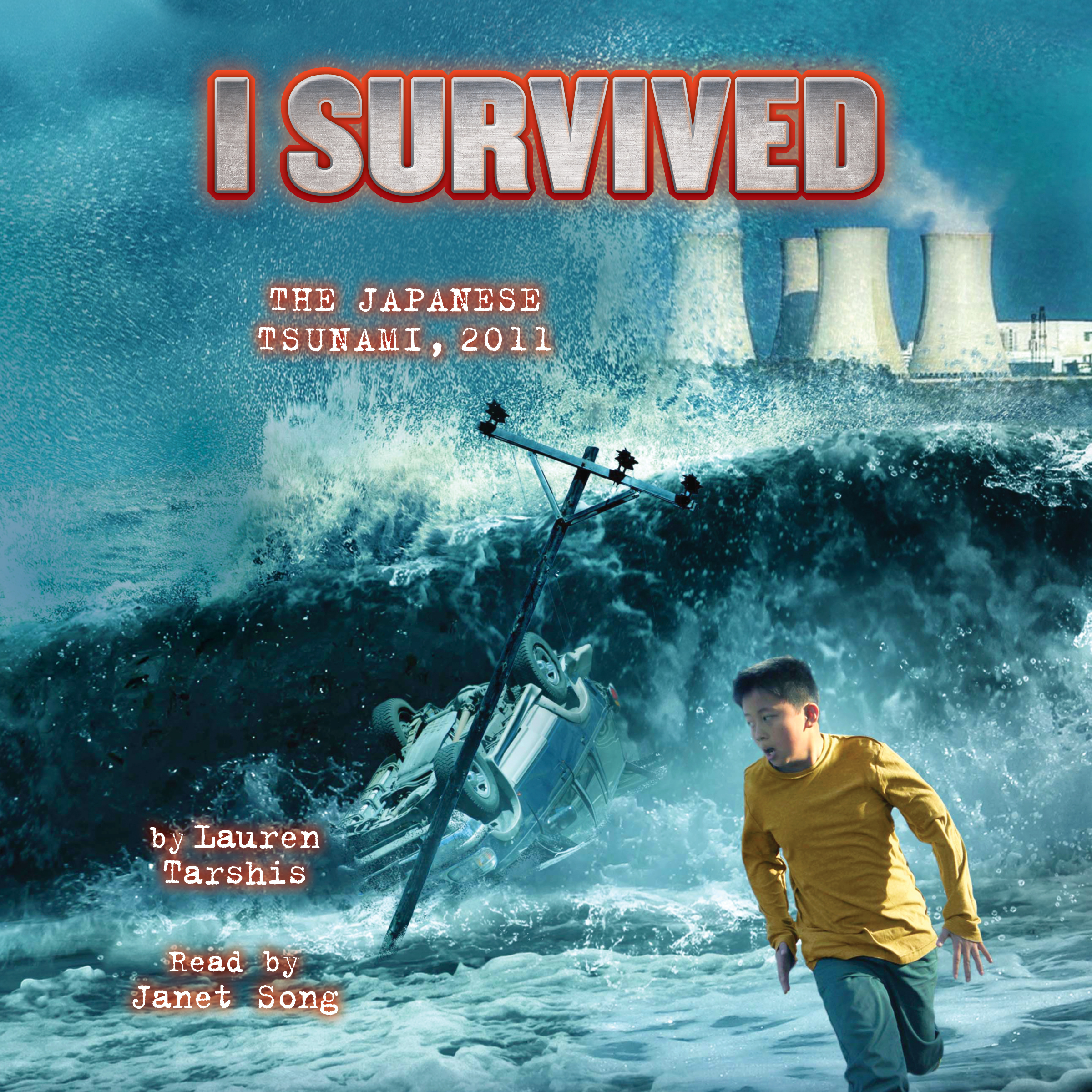 Printable  I Survived the Japanese Tsunami, 2011 Audiobook Cover Art