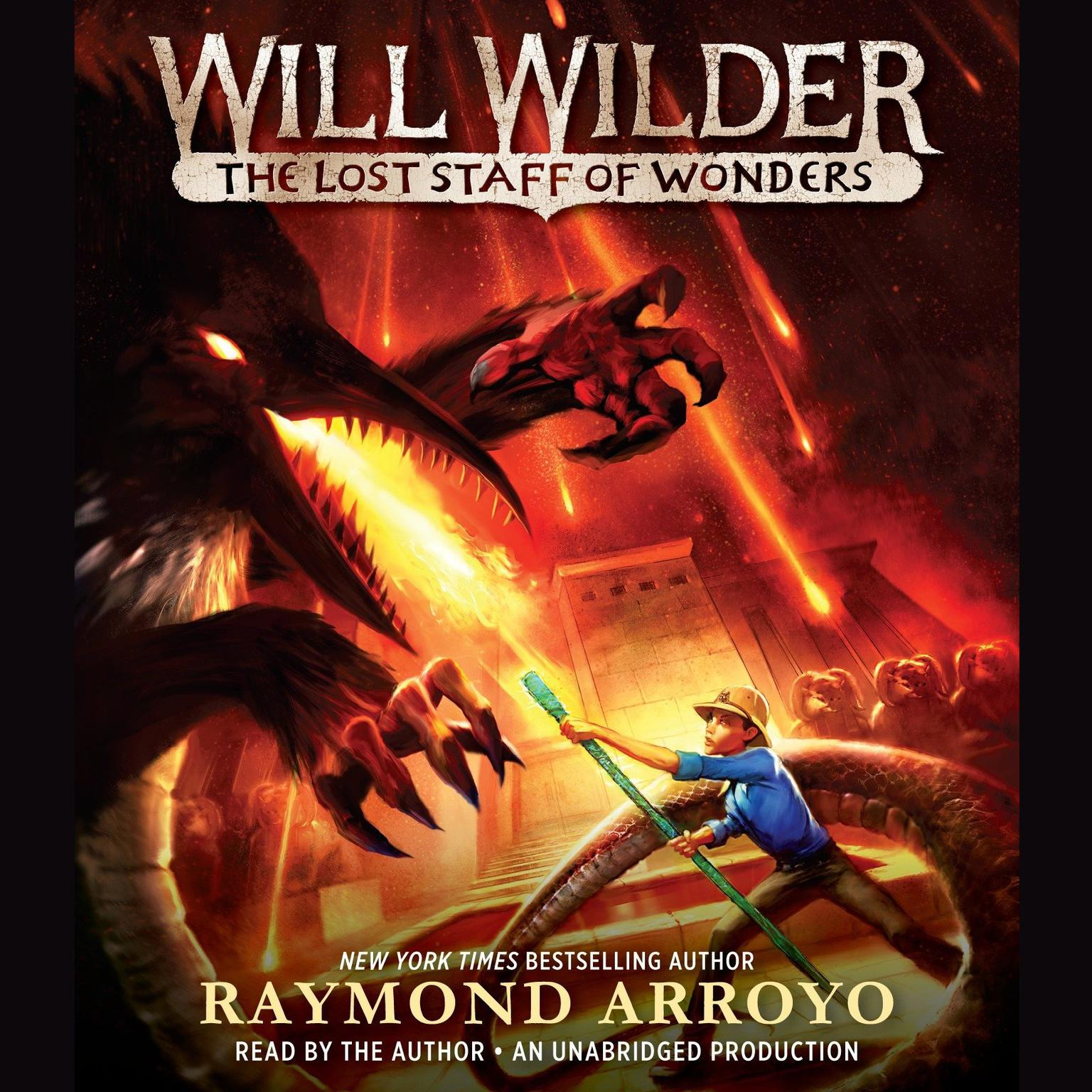 Printable Will Wilder #2: The Lost Staff of Wonders Audiobook Cover Art