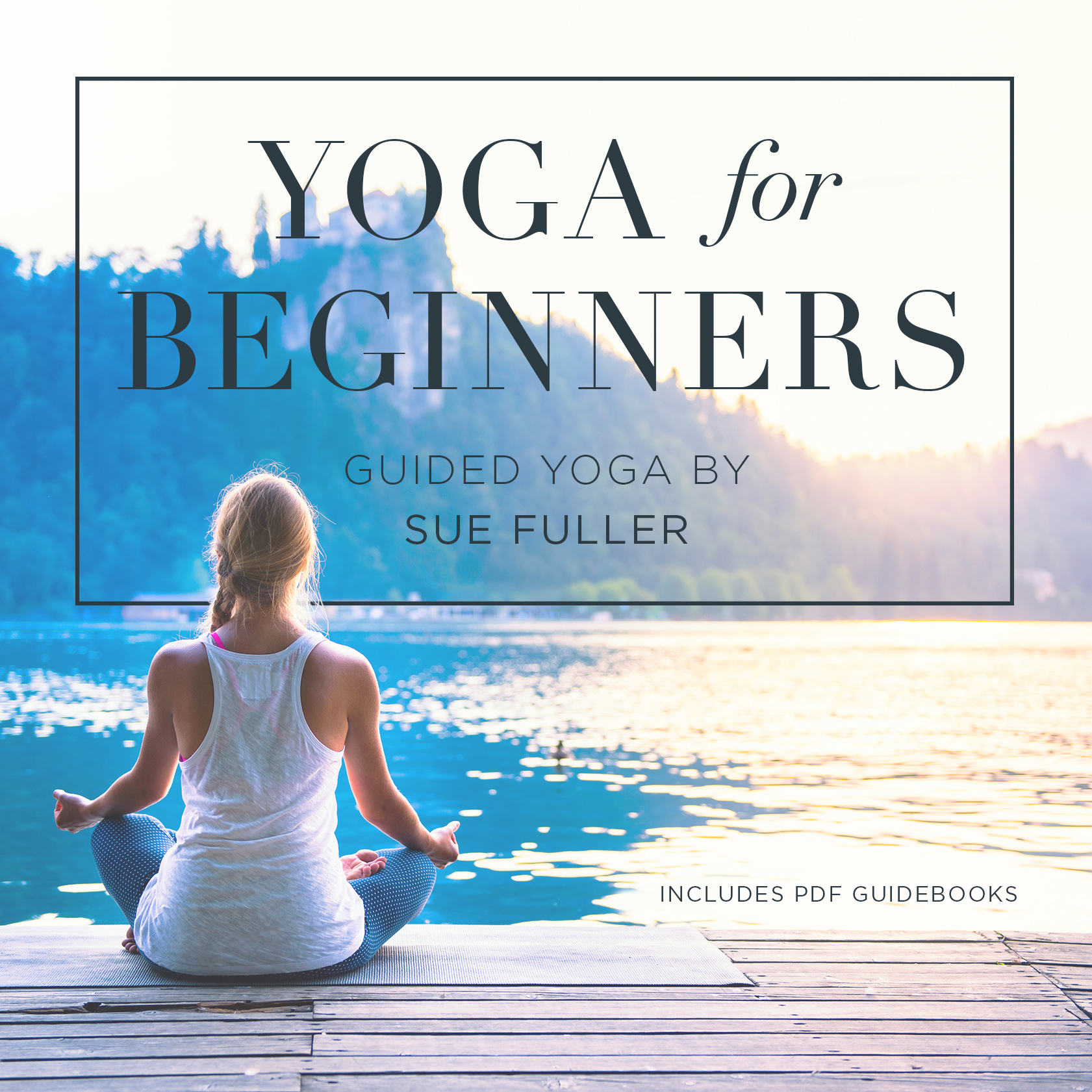 Printable Yoga for Beginners Audiobook Cover Art