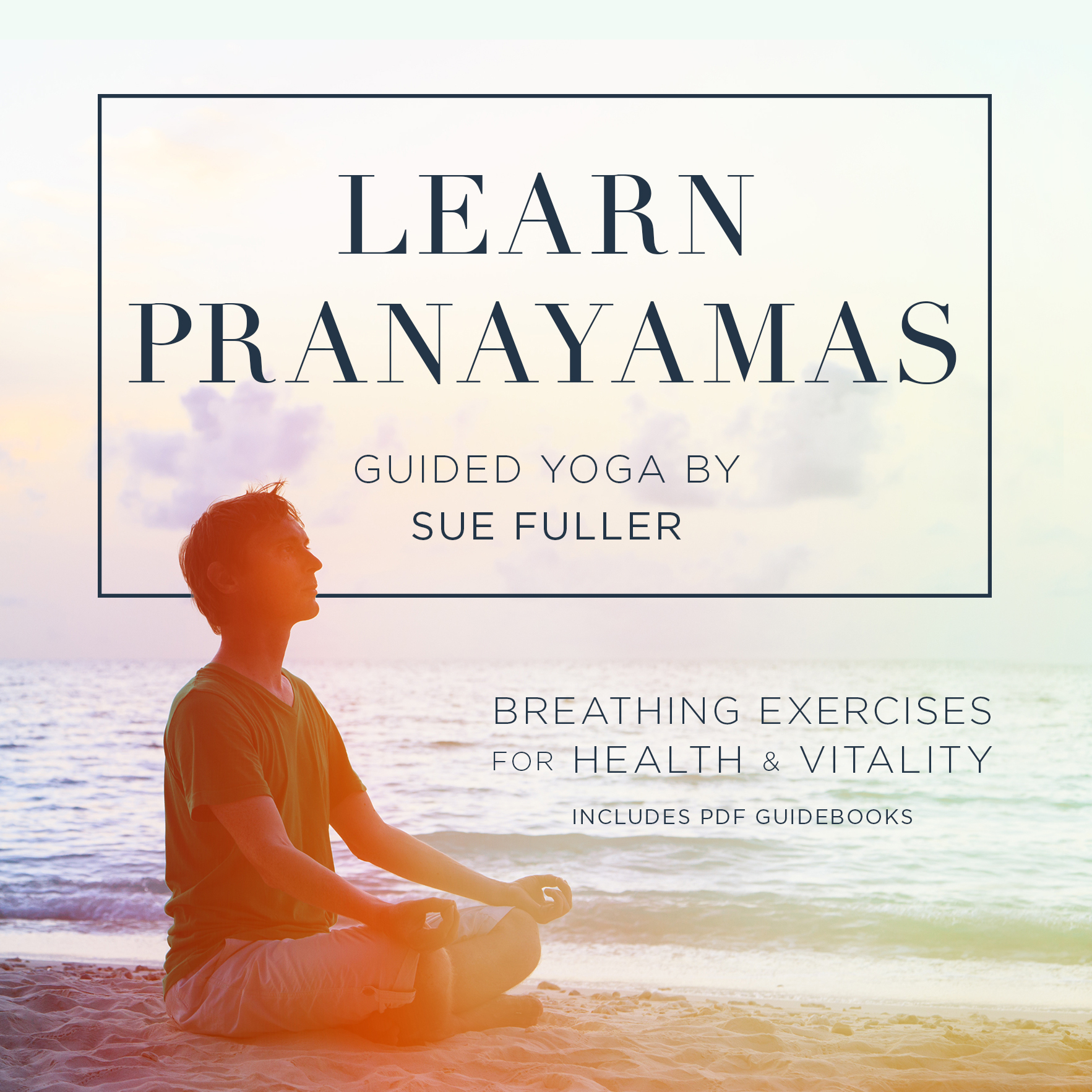 Printable Learn Pranayamas : Breathing Exercises for Health and Vitality  Audiobook Cover Art