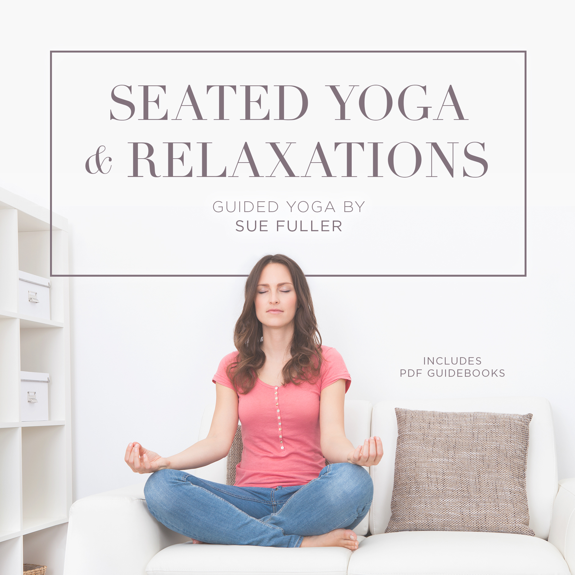 Printable Seated Yoga and Relaxations Audiobook Cover Art