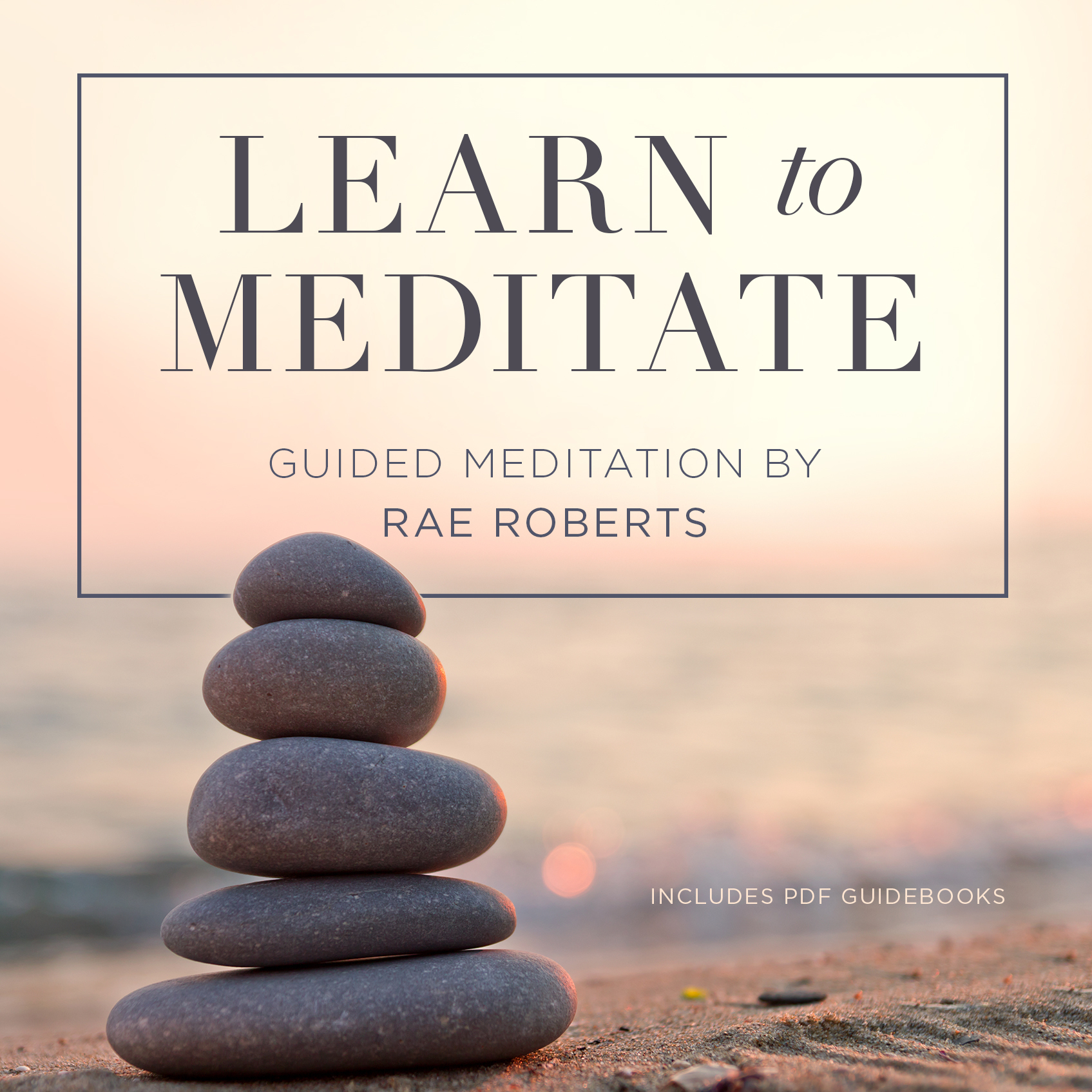 Printable Learn to Meditate Audiobook Cover Art