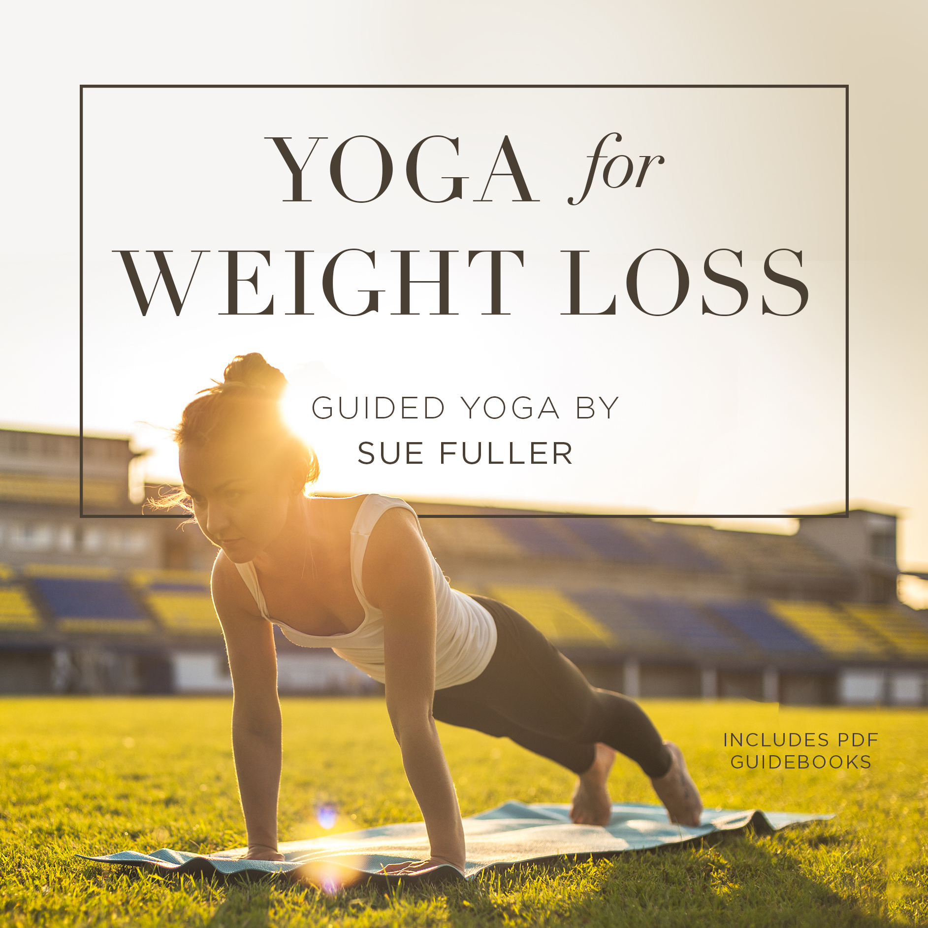Printable Yoga for Weight Loss Audiobook Cover Art