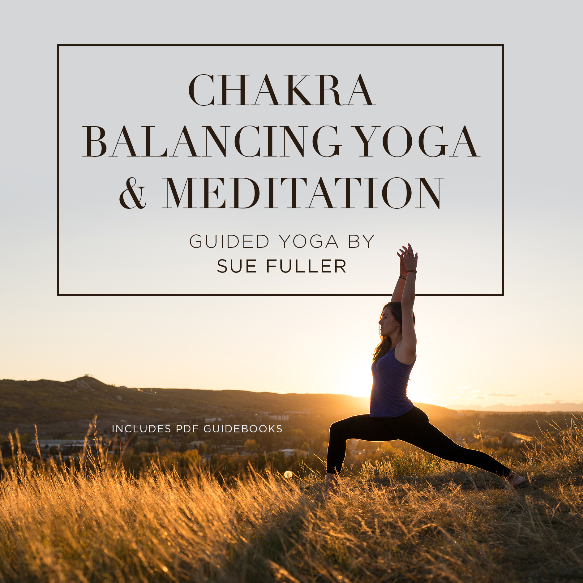 Printable Chakra Balancing Yoga and Meditation Audiobook Cover Art
