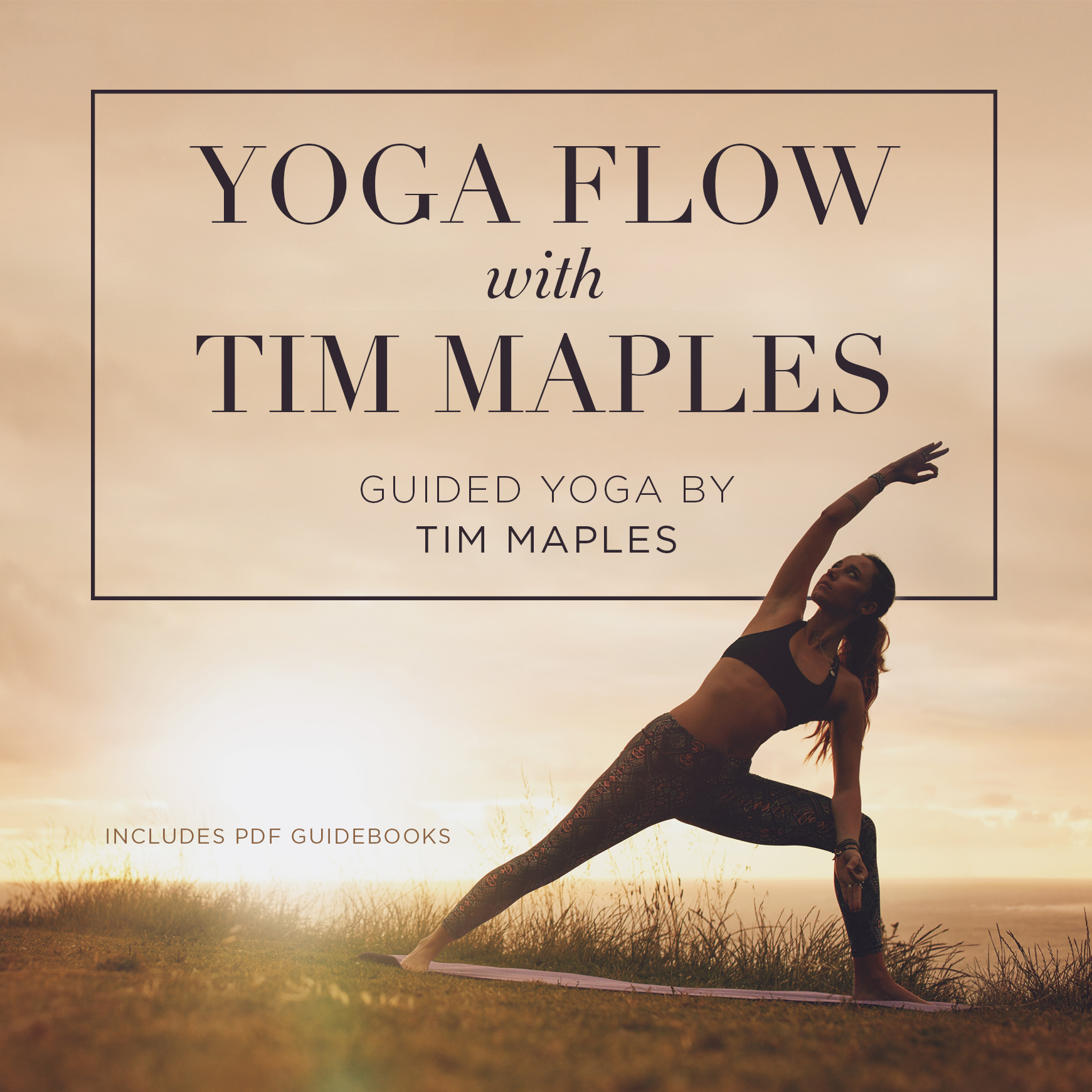Printable Yoga Flow with Tim Maples  Audiobook Cover Art