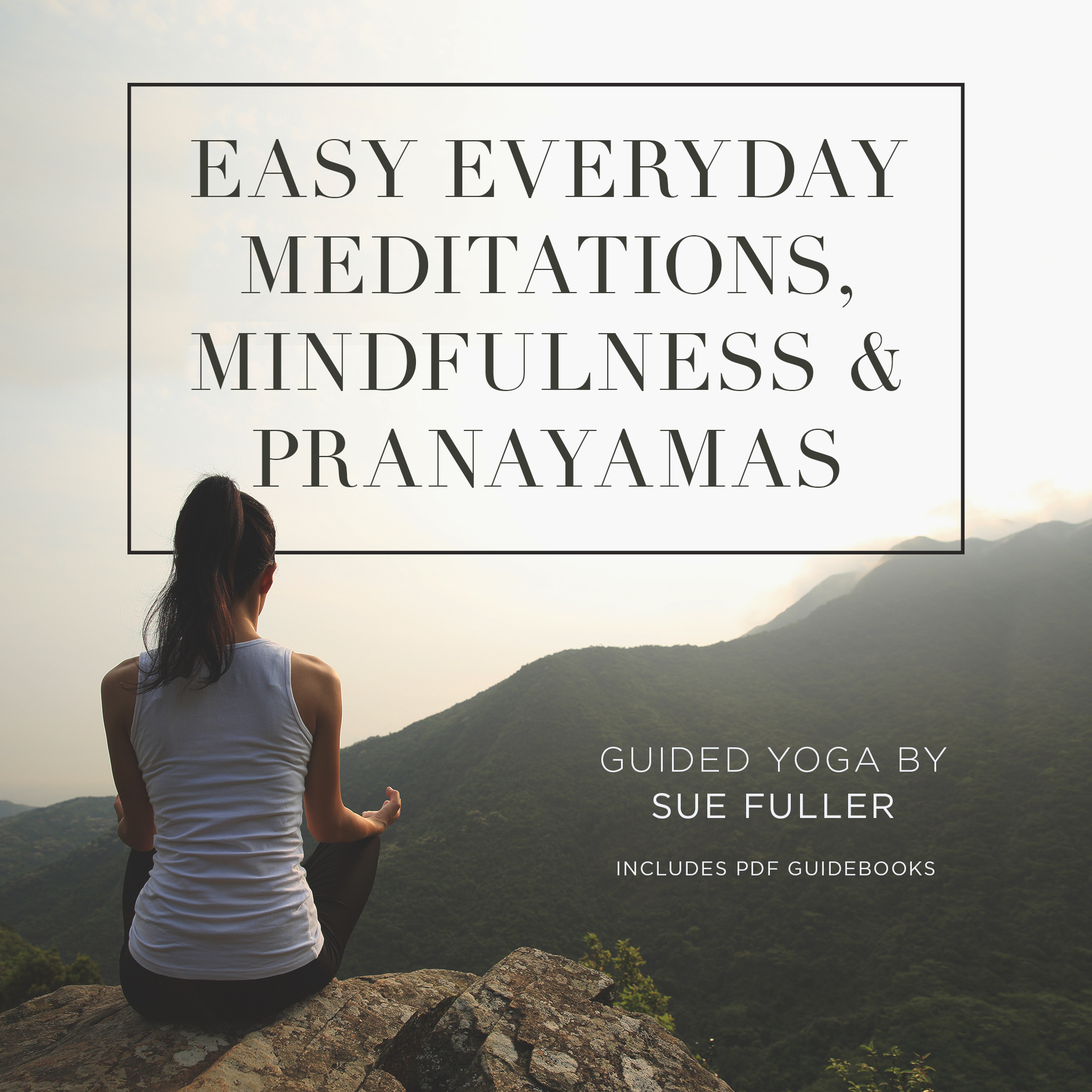 Printable Easy Everyday Meditations, Mindfulness, and Pranayamas Audiobook Cover Art