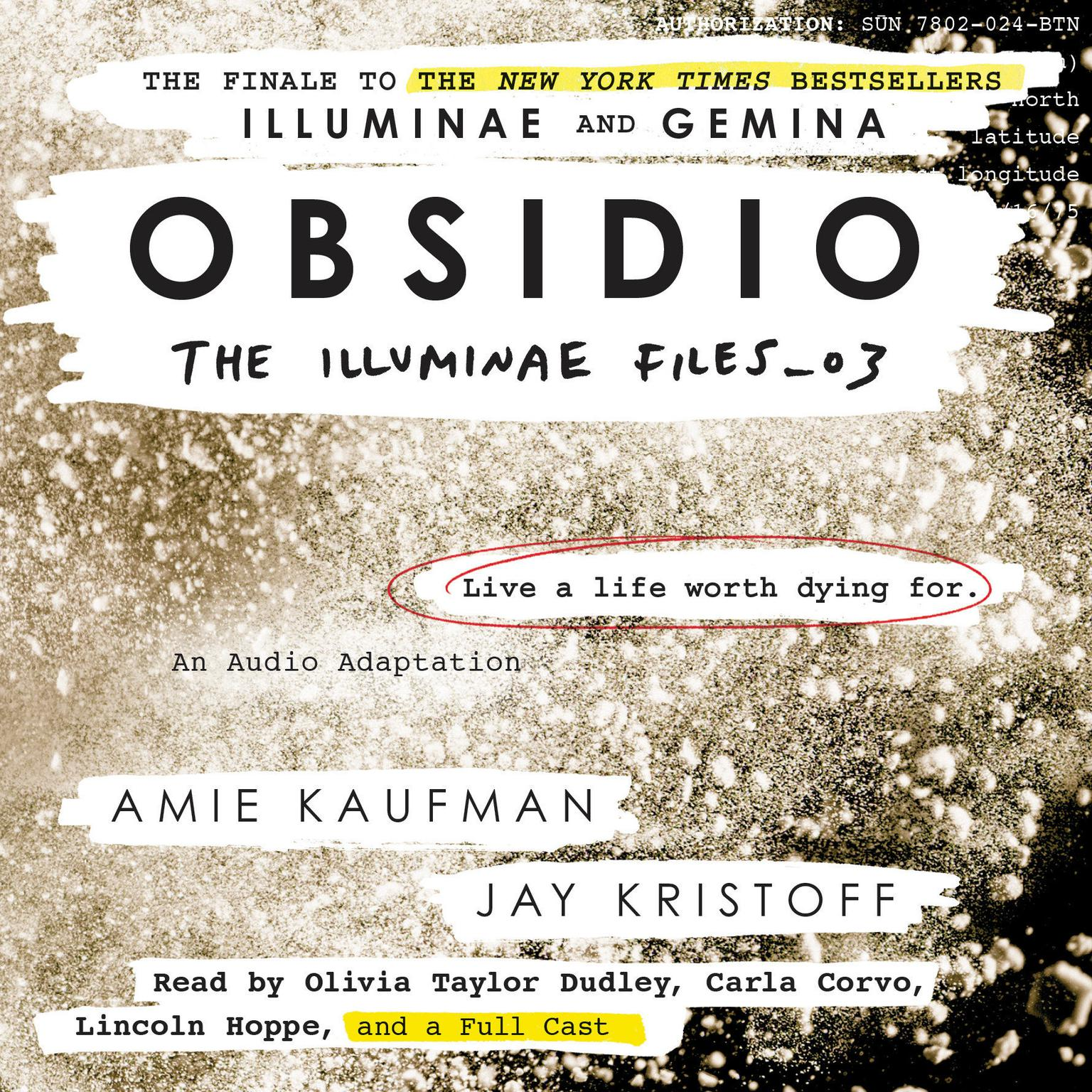 Printable Obsidio Audiobook Cover Art