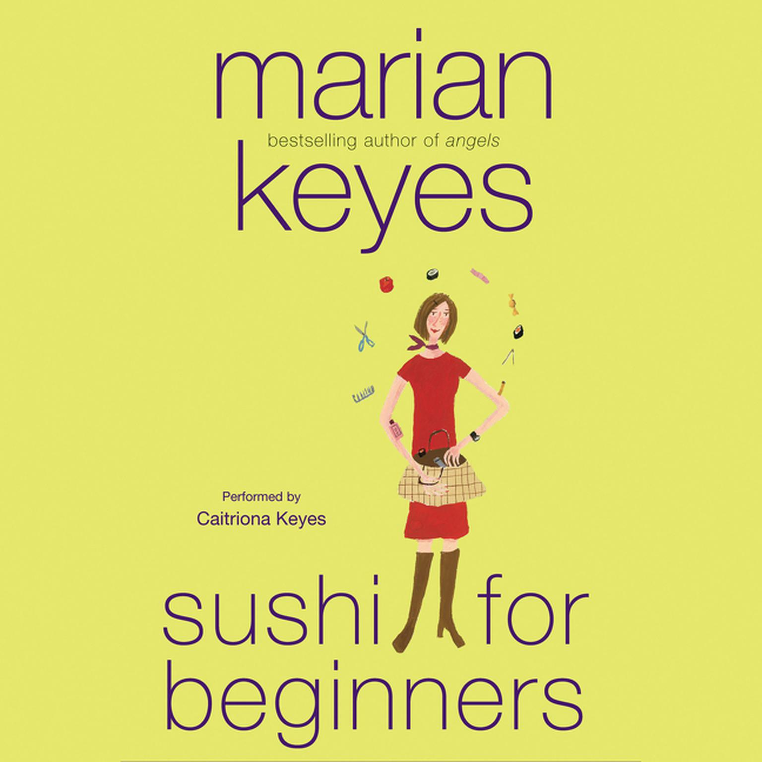 Printable Sushi for Beginners: A Novel Audiobook Cover Art