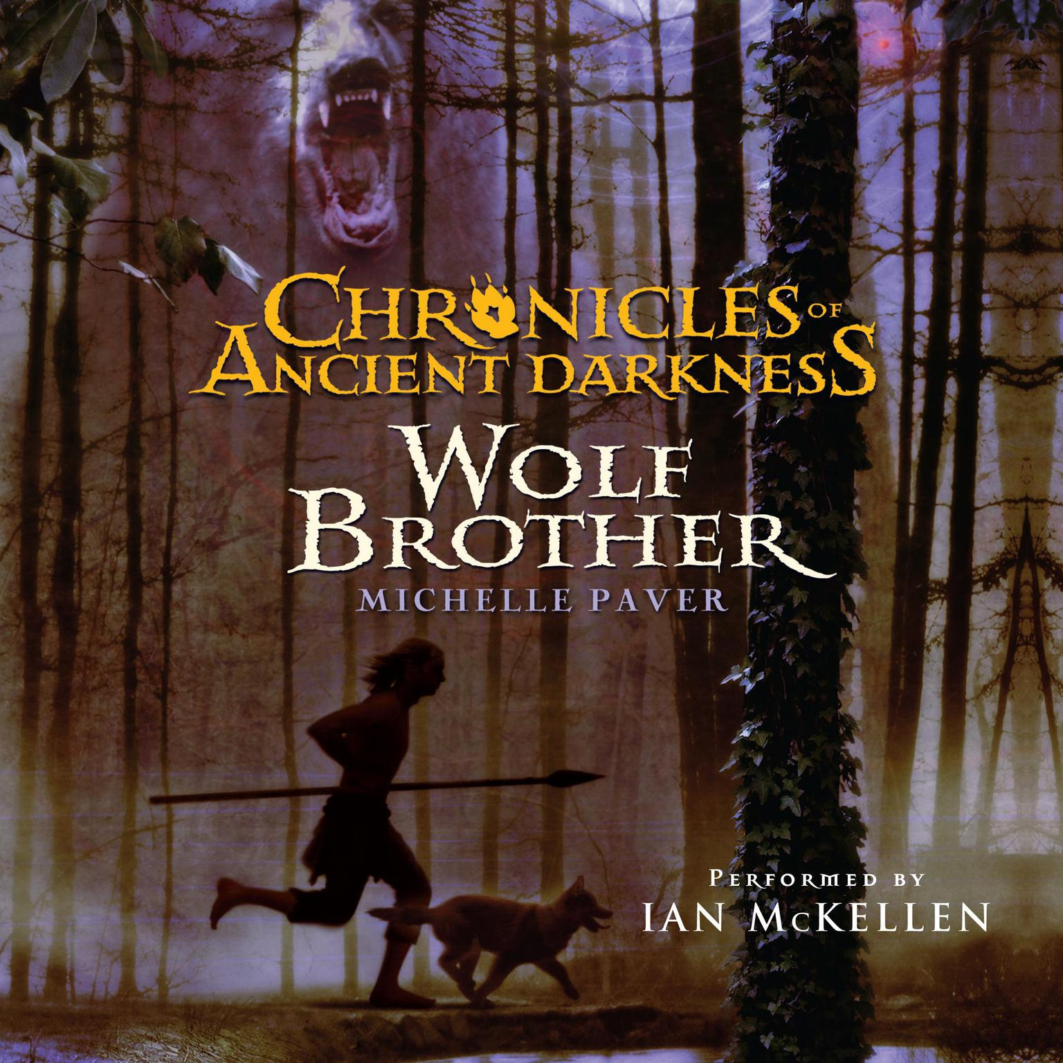 Printable Chronicles of Ancient Darkness #1: Wolf Brother Audiobook Cover Art