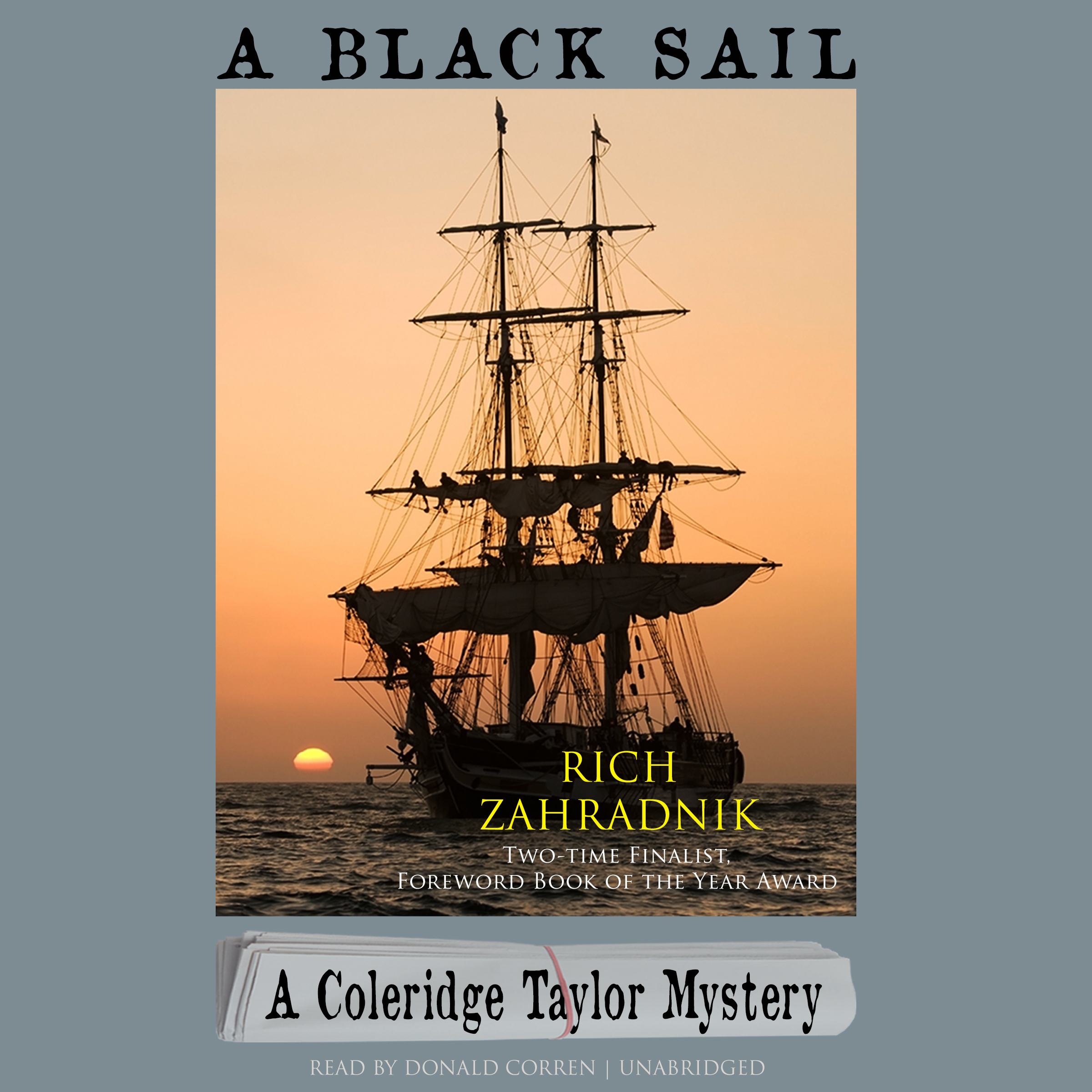 Printable A Black Sail: A Coleridge Taylor Mystery Audiobook Cover Art