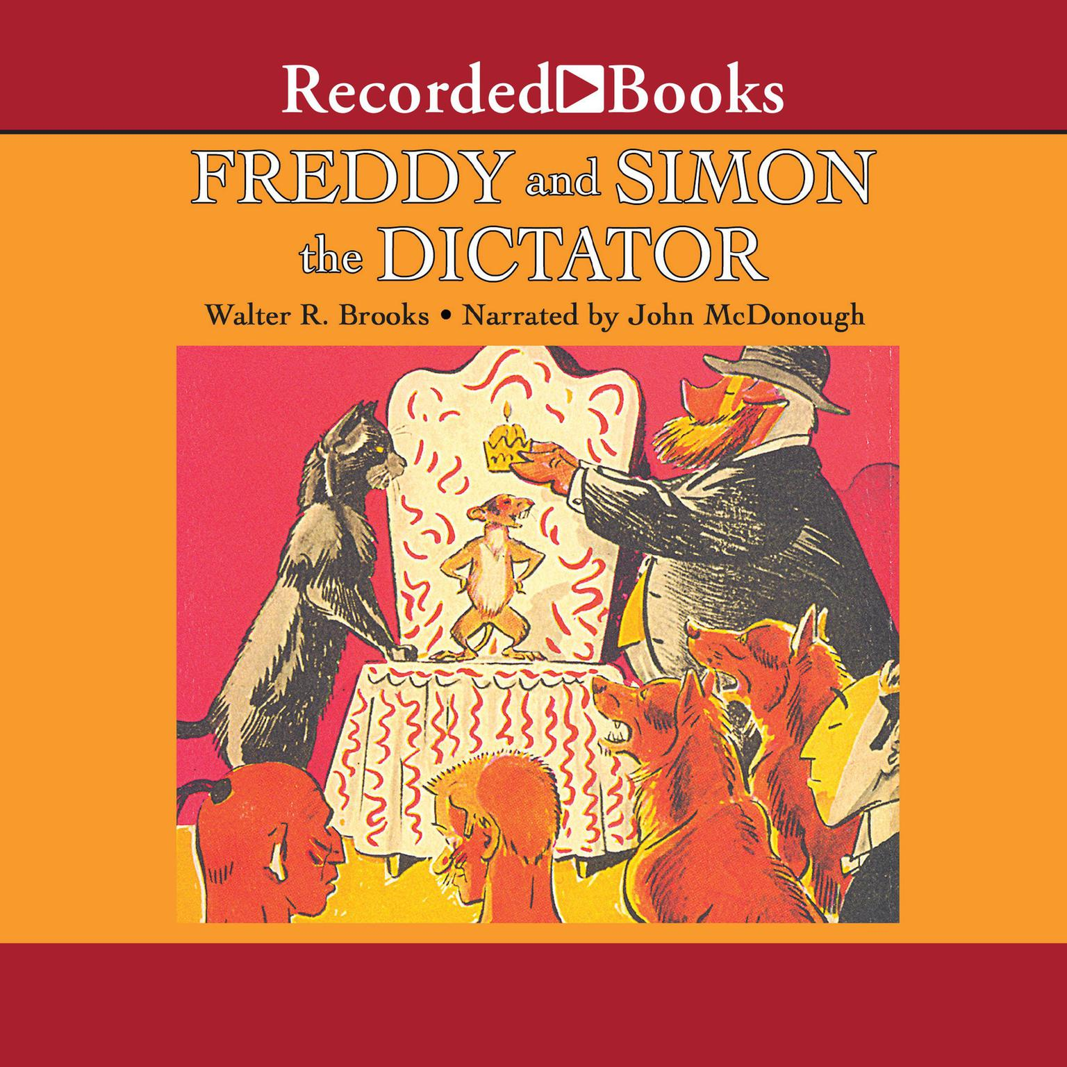 Printable Freddy and Simon the Dictator Audiobook Cover Art