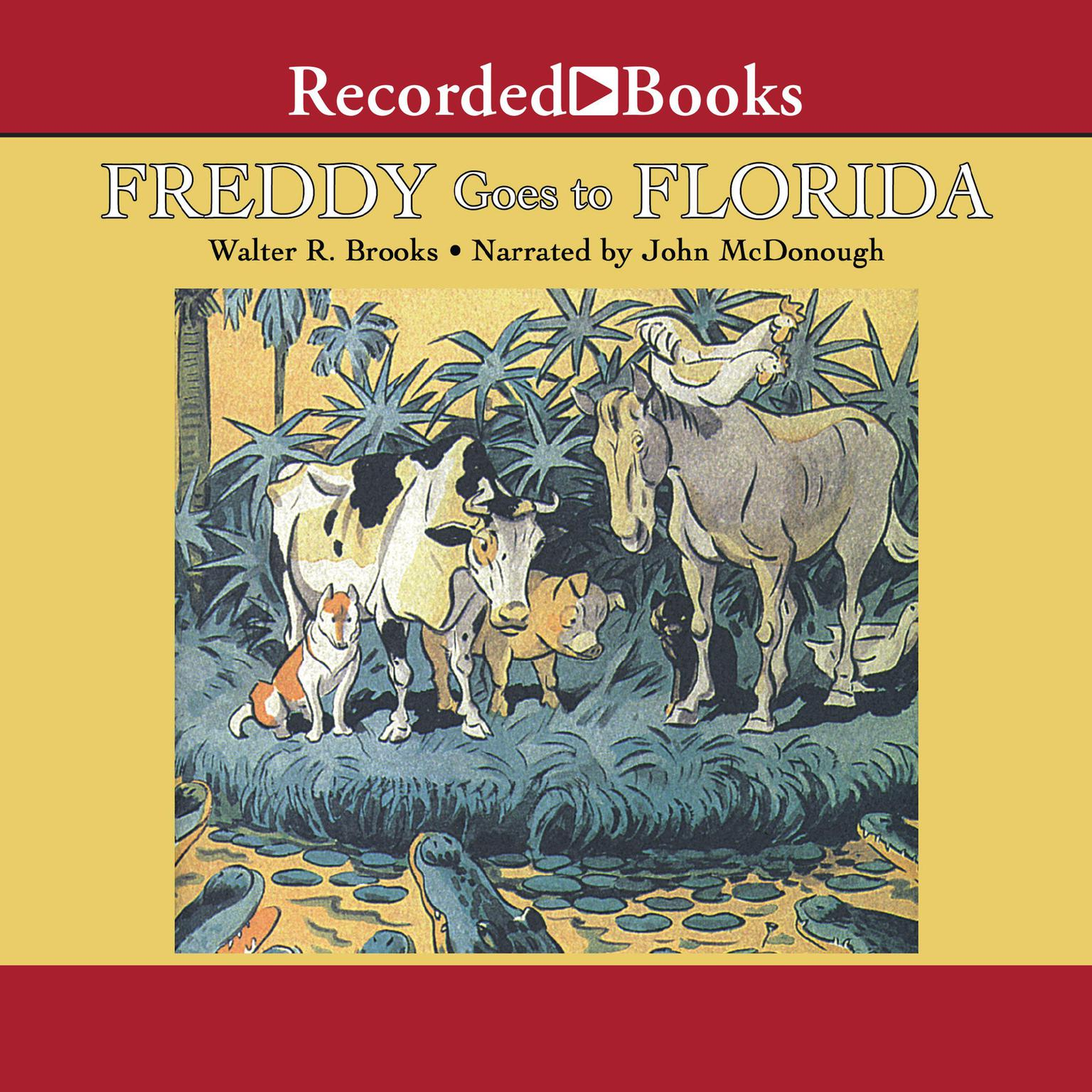 Printable Freddy Goes to Florida Audiobook Cover Art