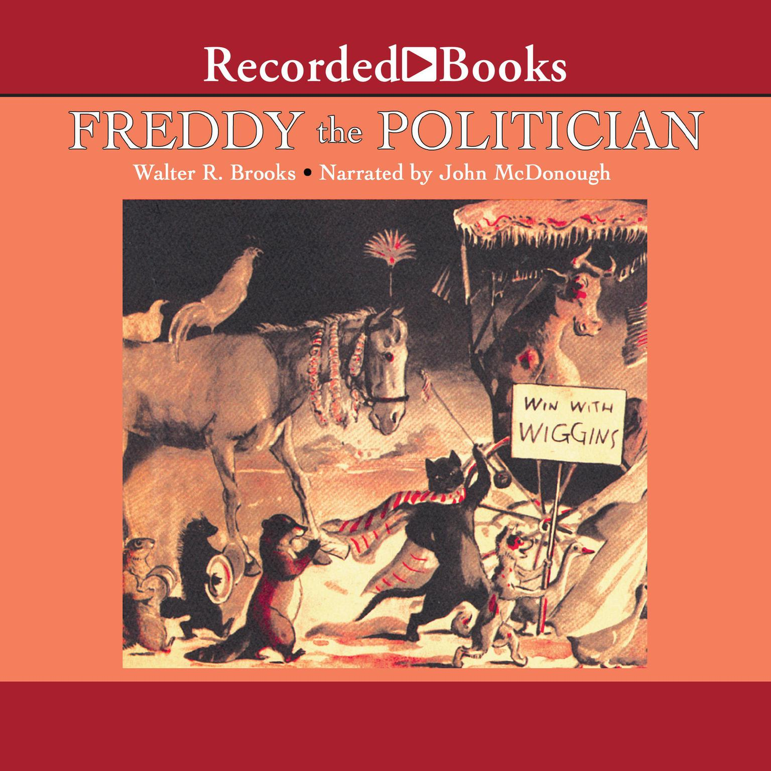 Printable Freddy the Politician Audiobook Cover Art