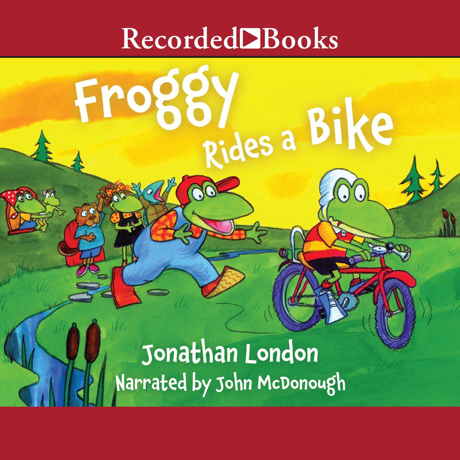 Printable Froggy Rides a Bike Audiobook Cover Art