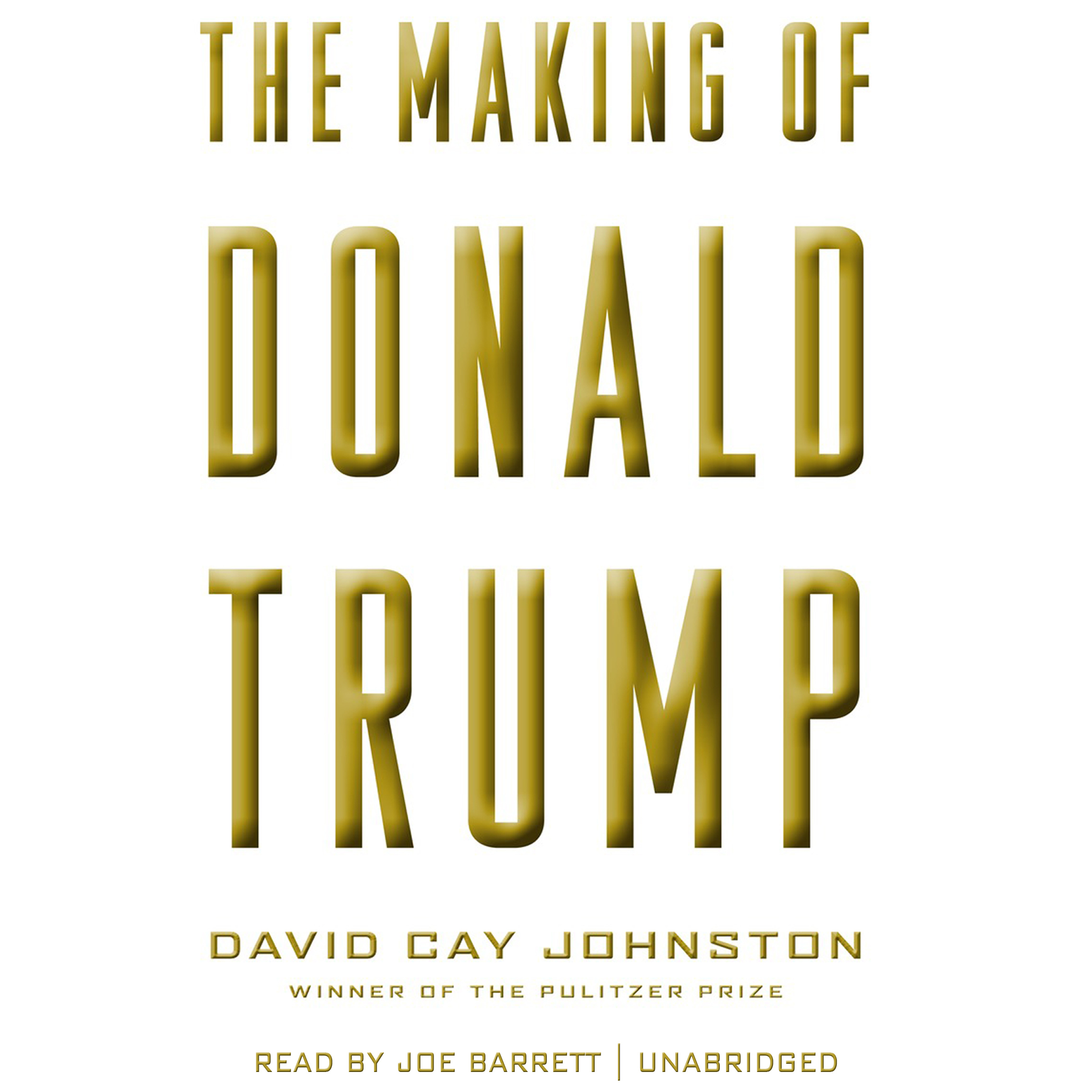Printable The Making of Donald Trump Audiobook Cover Art