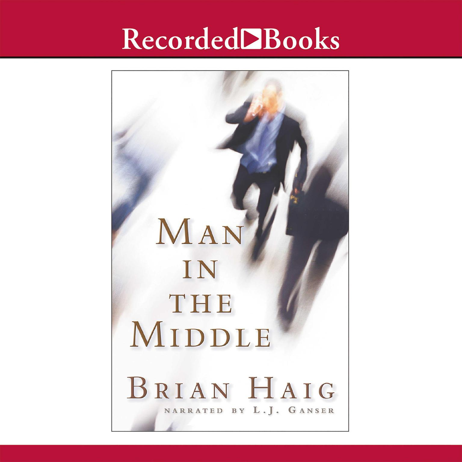 Printable Man in the Middle Audiobook Cover Art