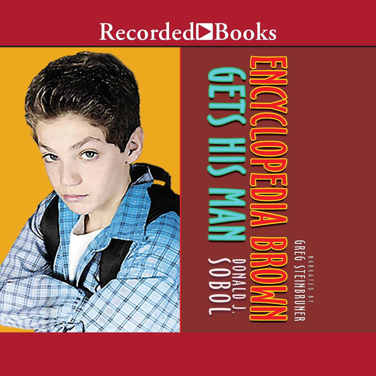 Printable Encyclopedia Brown Gets His Man Audiobook Cover Art