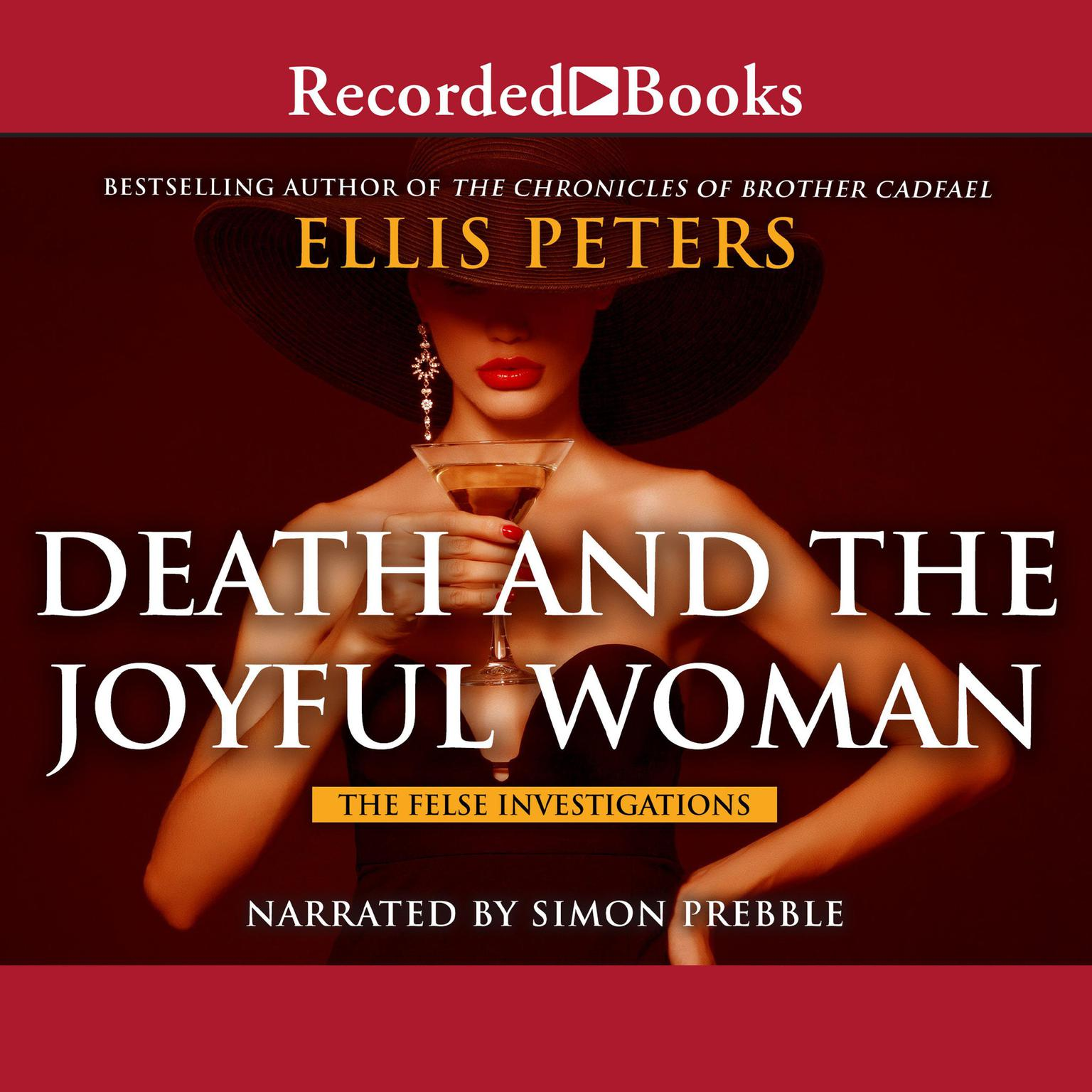 Printable Death and the Joyful Woman Audiobook Cover Art