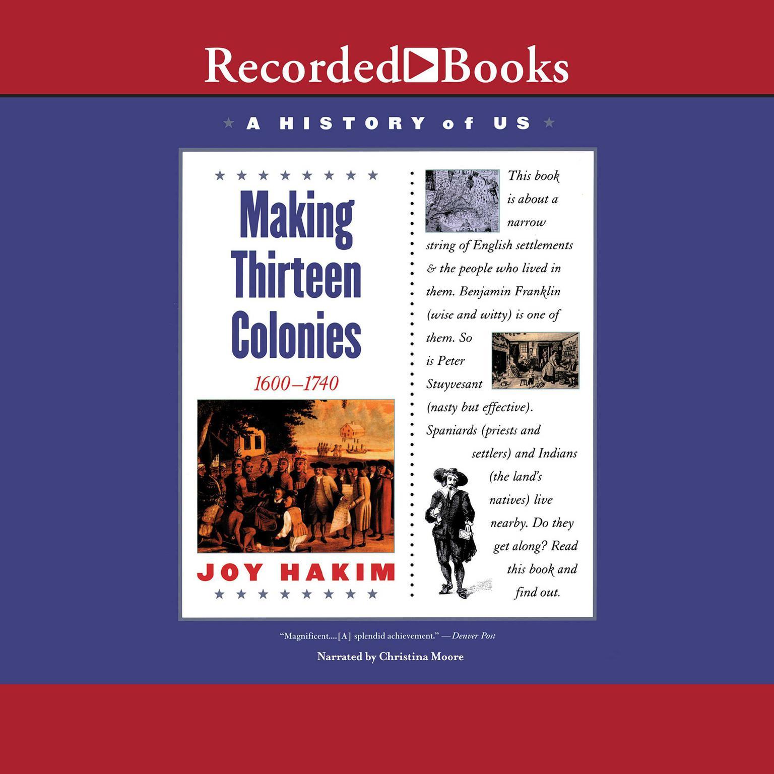 Printable Making Thirteen Colonies: Book 2 (1600-1740) Audiobook Cover Art