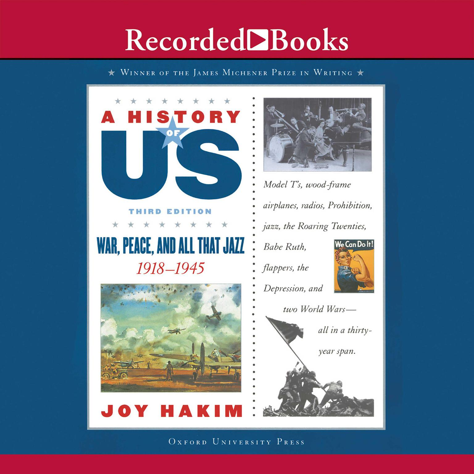 Printable War, Peace, and All That Jazz, 1918–1945 Audiobook Cover Art