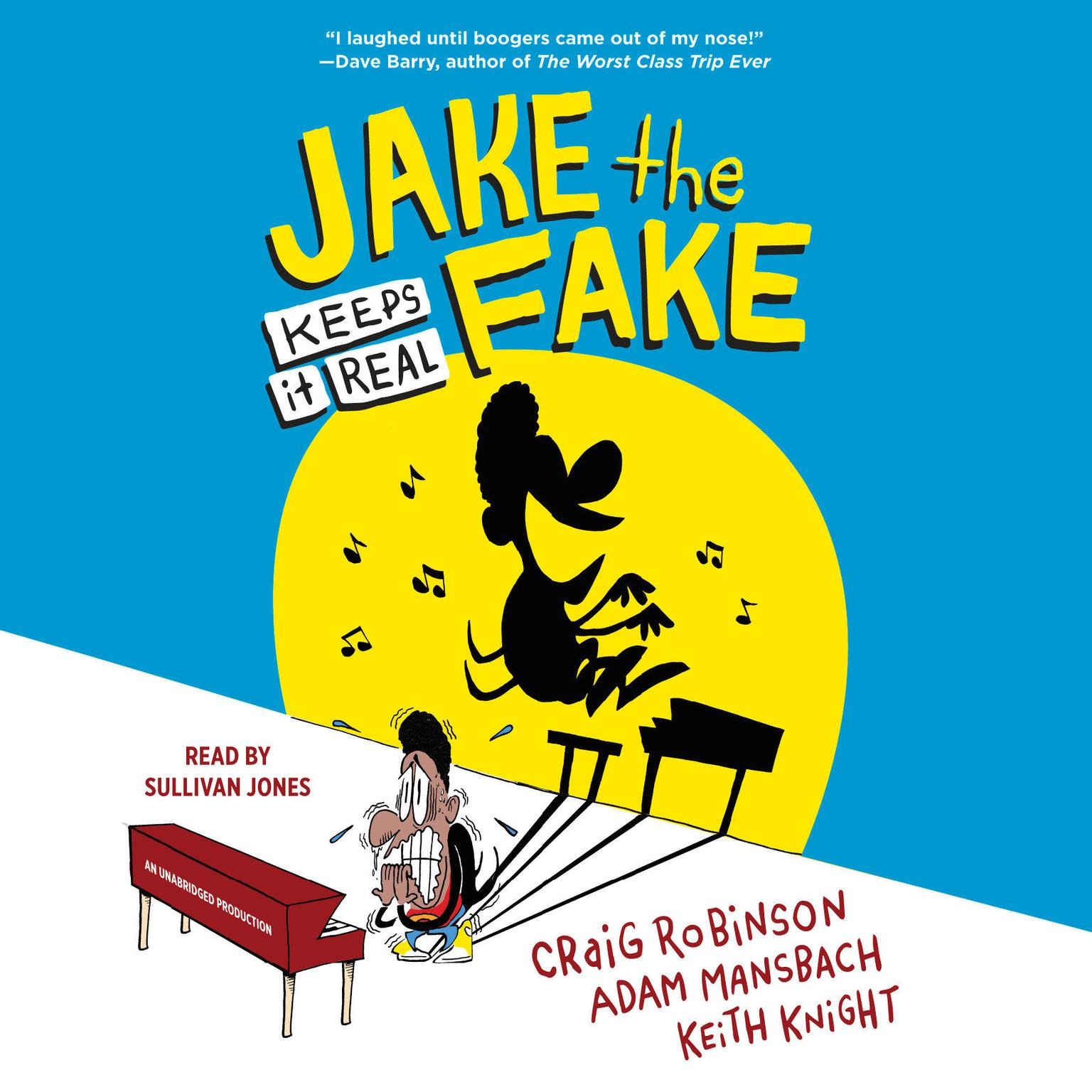 Printable Jake the Fake Keeps it Real Audiobook Cover Art