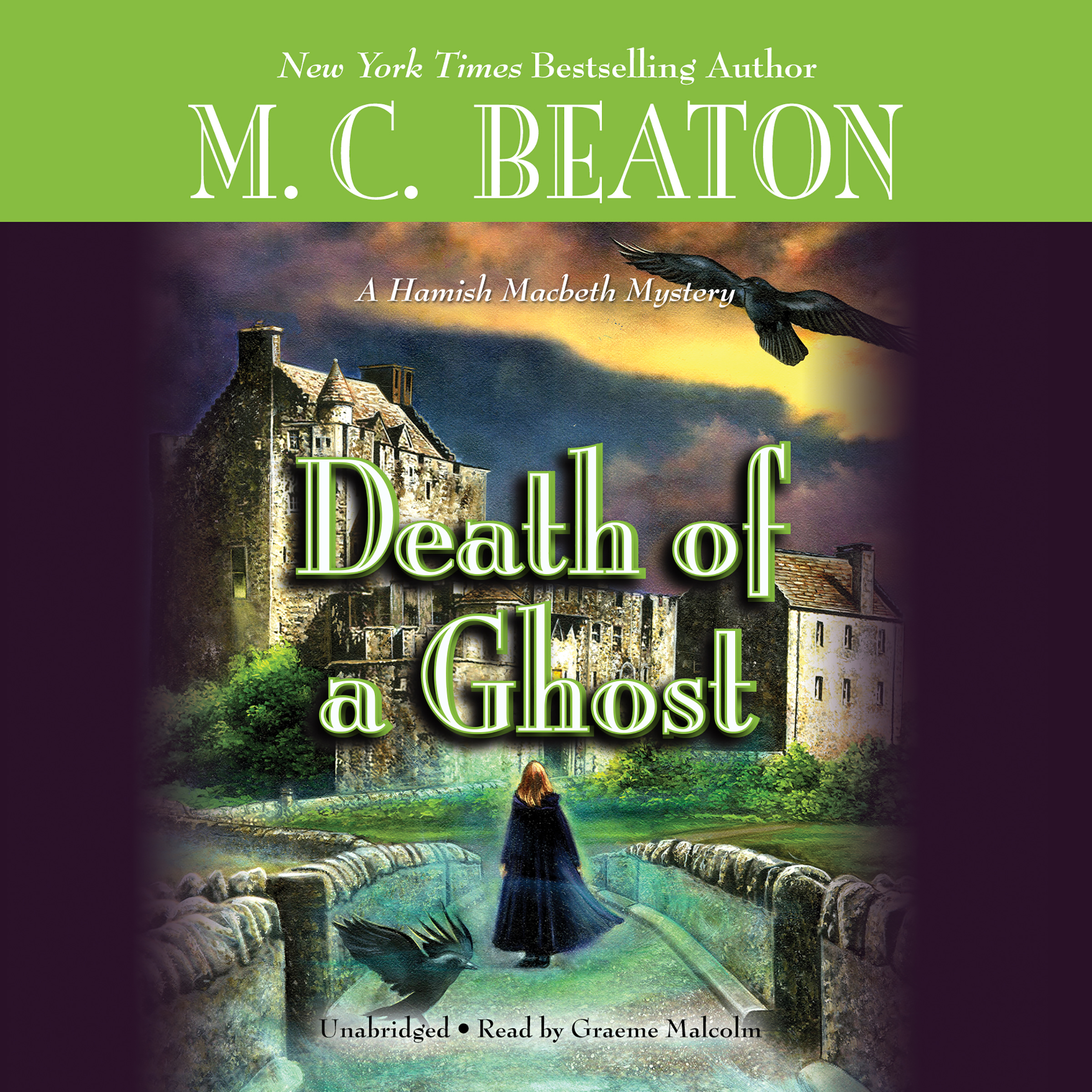 Printable Death of a Ghost Audiobook Cover Art