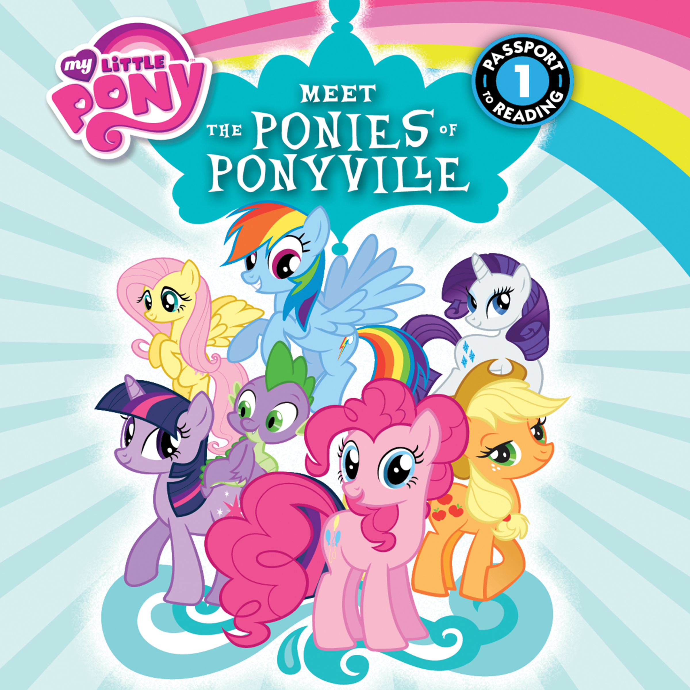Printable My Little Pony: Meet the Ponies of Ponyville Audiobook Cover Art