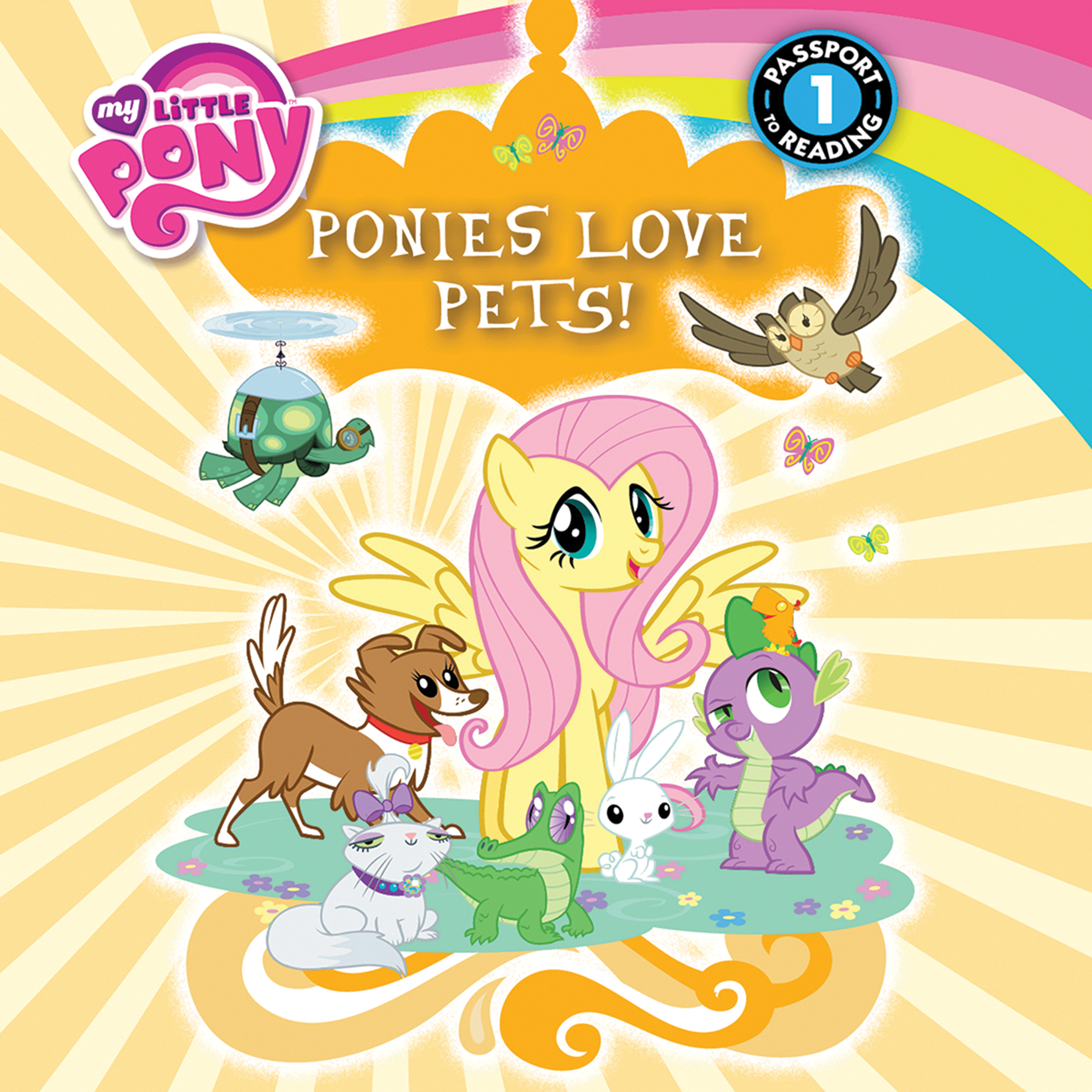 Printable My Little Pony:  Ponies Love Pets! Audiobook Cover Art