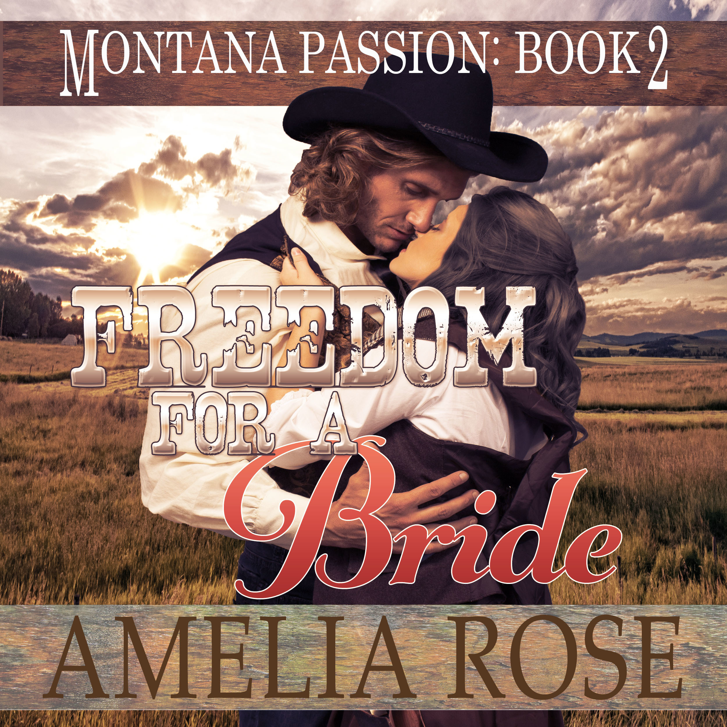 Printable Freedom for a Bride: A Clean Historical Mail Order Bride Romance Audiobook Cover Art