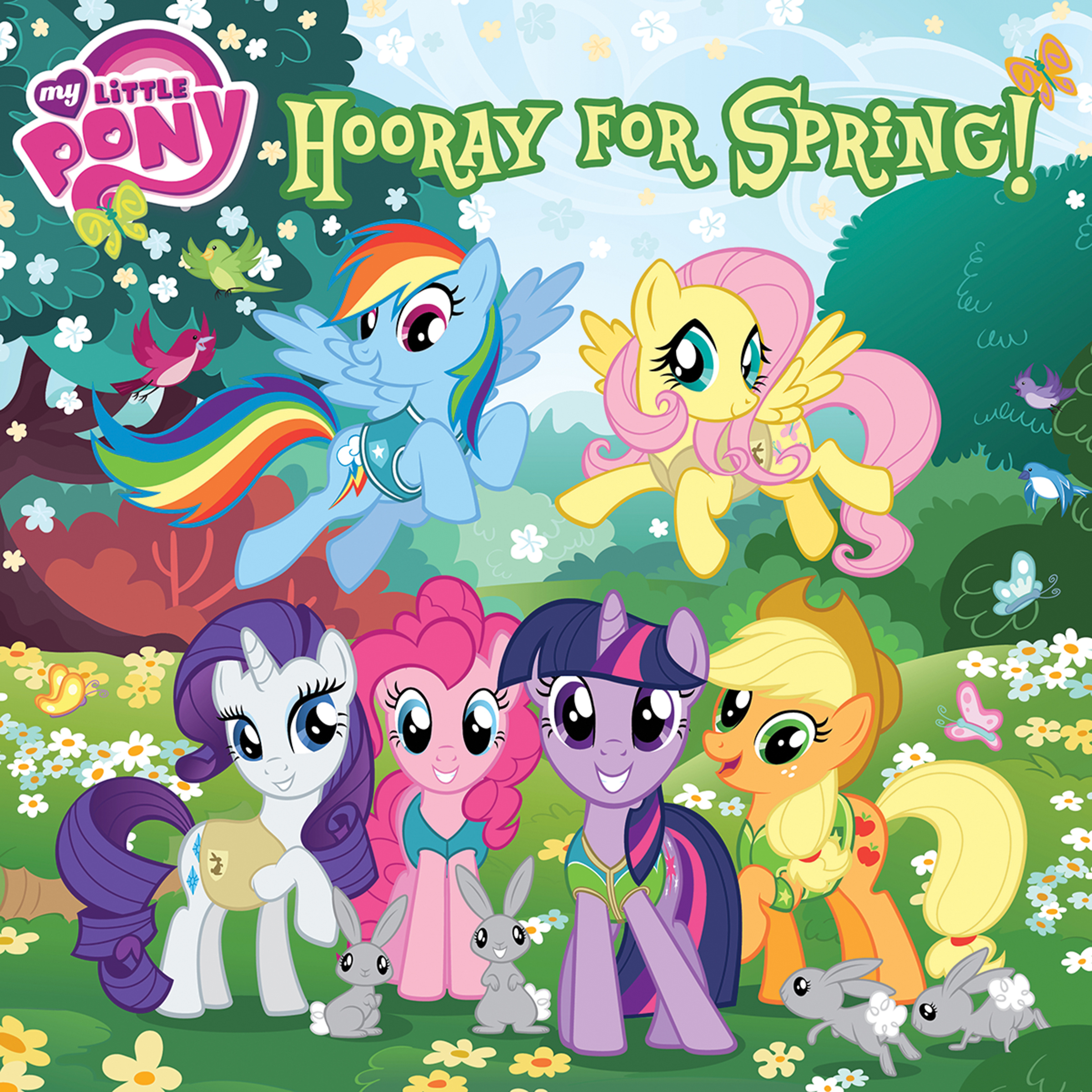Printable My Little Pony:  Hooray for Spring! Audiobook Cover Art