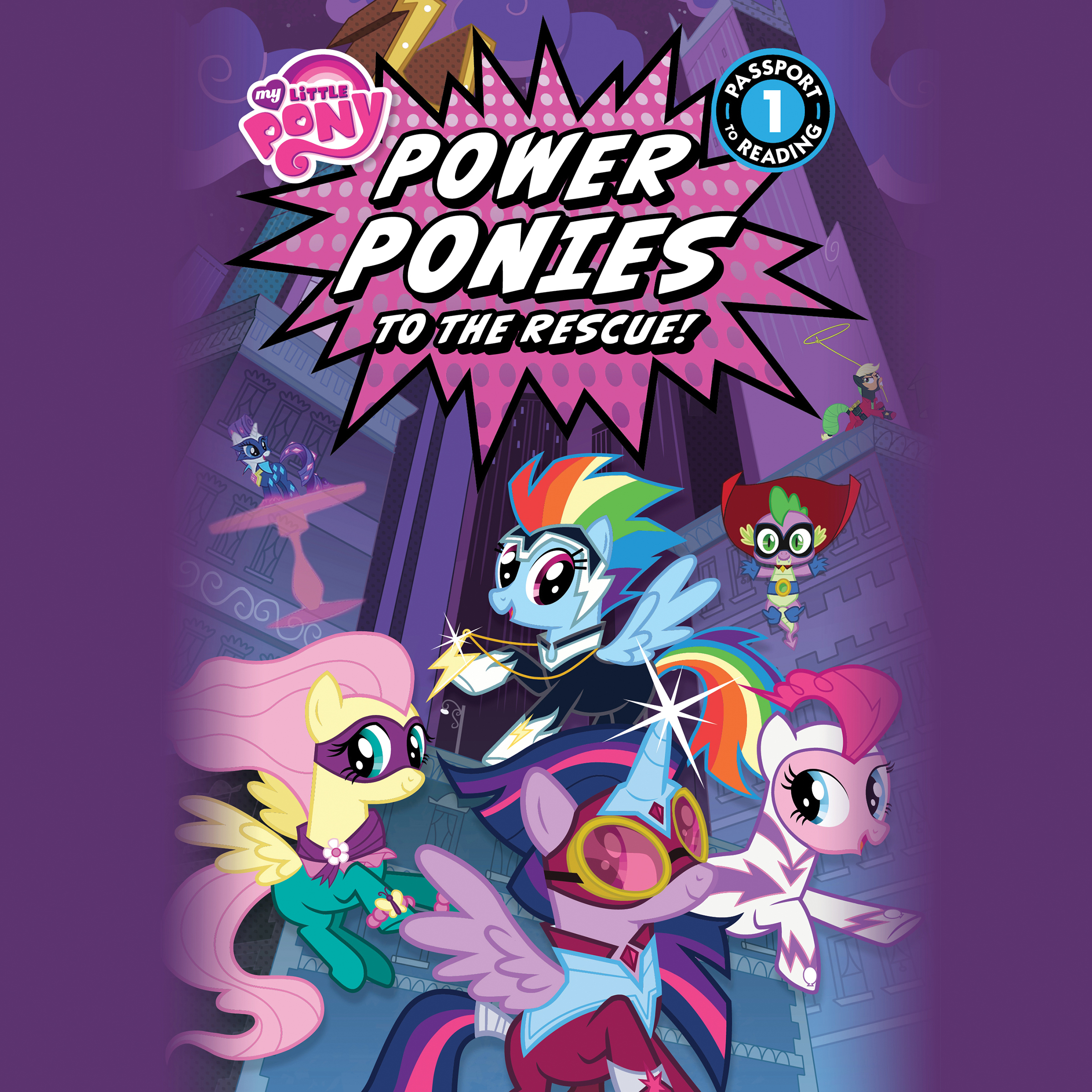 Printable My Little Pony: Power Ponies to the Rescue! Audiobook Cover Art