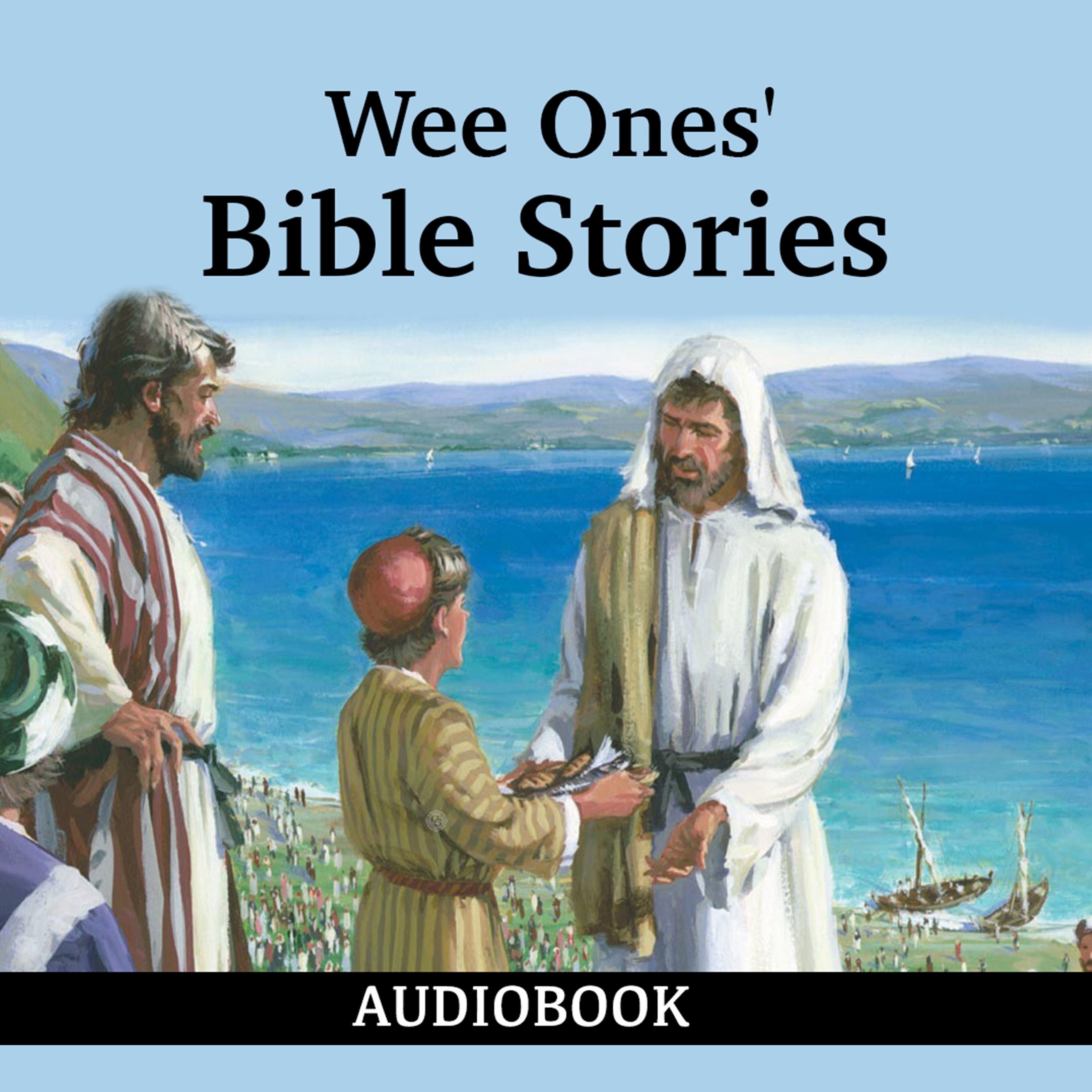 Printable Wee Ones' Bible Stories Audiobook Cover Art