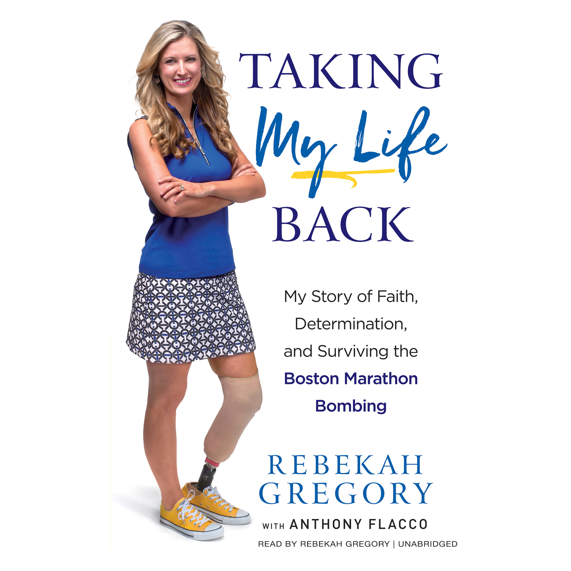 Printable Taking My Life Back: My Story of Faith, Determination, and Surviving the Boston Marathon Bombing Audiobook Cover Art