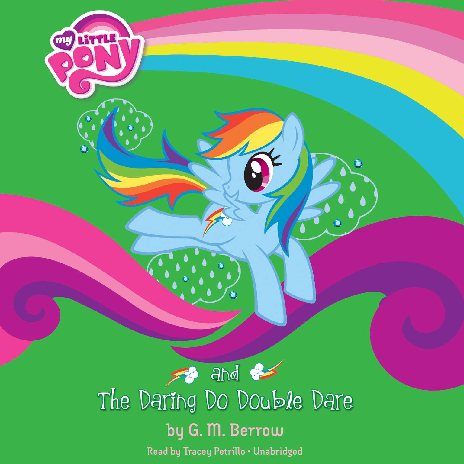 Printable My Little Pony: Rainbow Dash and the Daring Do Double Dare Audiobook Cover Art