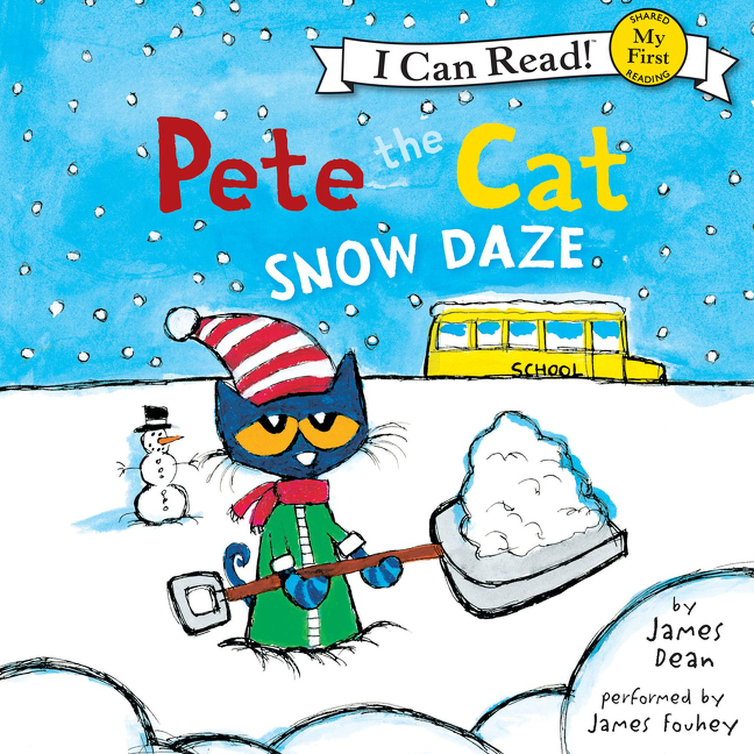 Printable Pete the Cat: Snow Daze Audiobook Cover Art