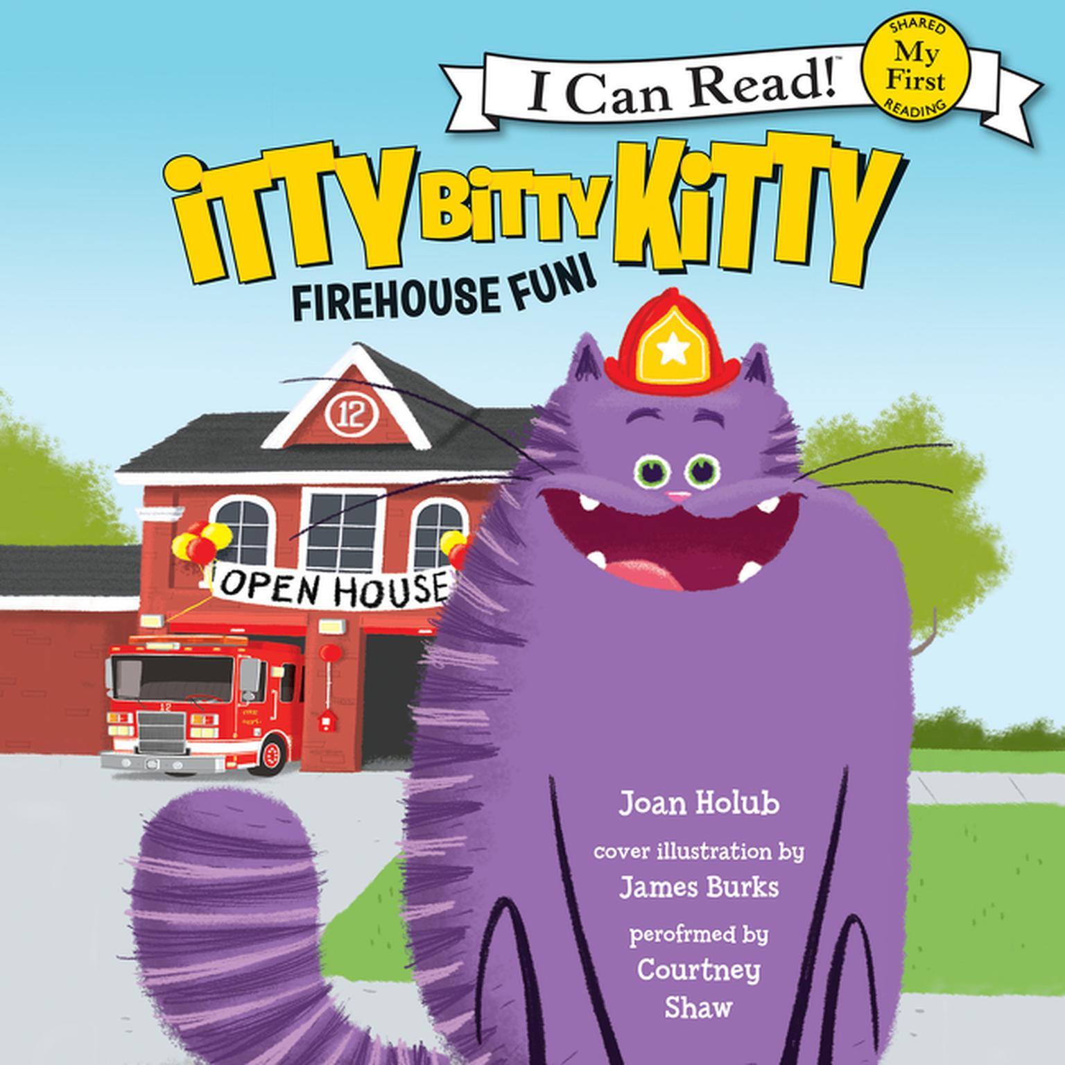Printable Itty Bitty Kitty: Firehouse Fun Audiobook Cover Art